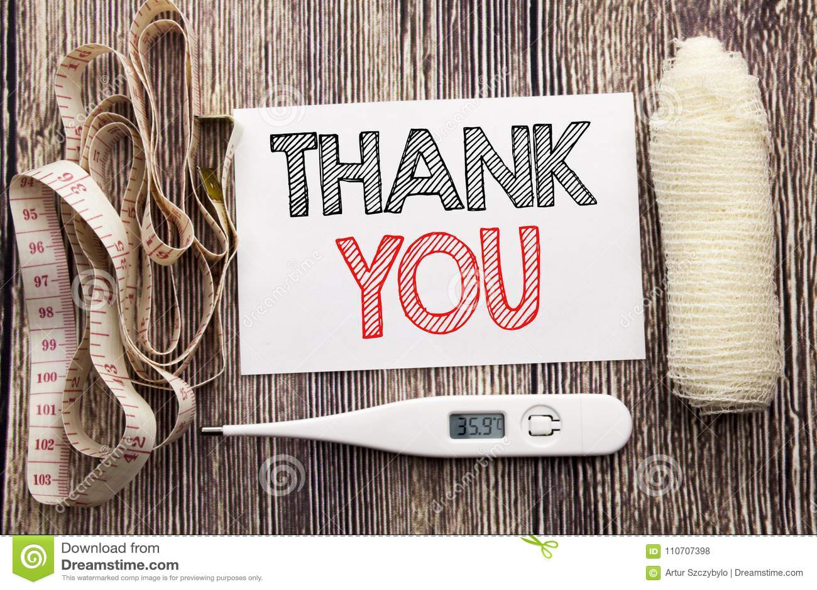 La demostración manuscrita del texto le agradece La escritura del concepto de la salud de la aptitud del negocio para la gratitud