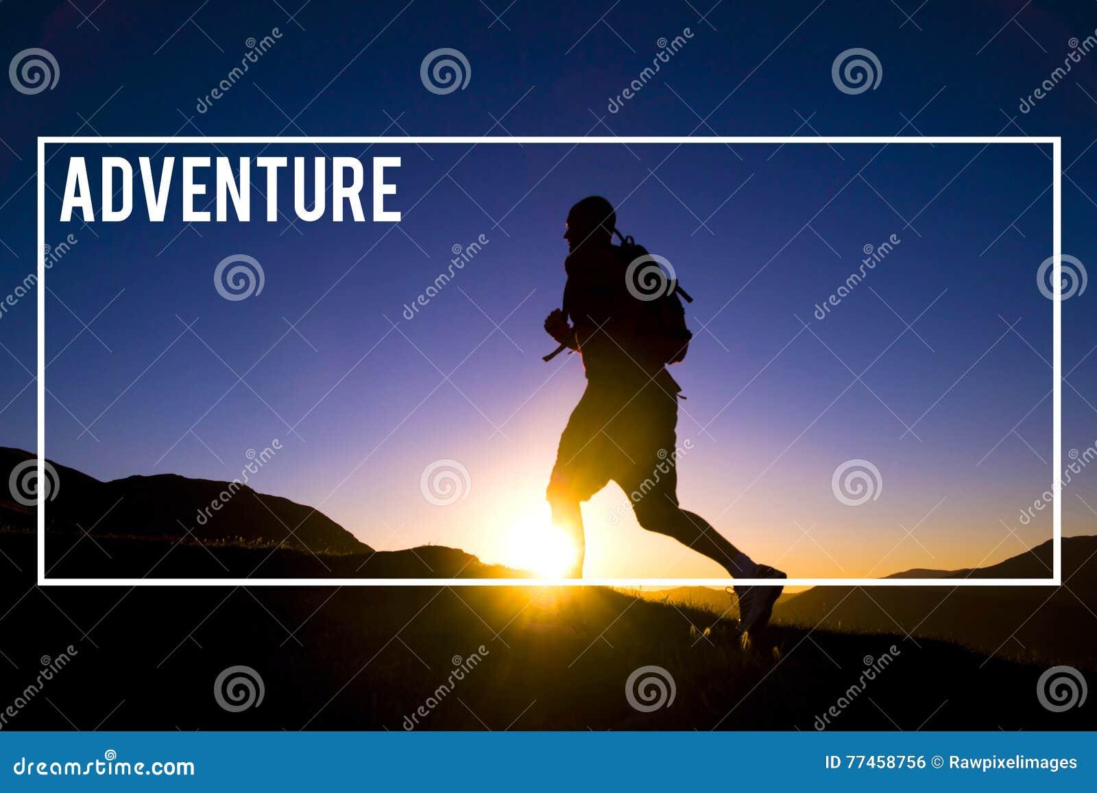 La destination de voyageur d aventure explorent le concept de voyage