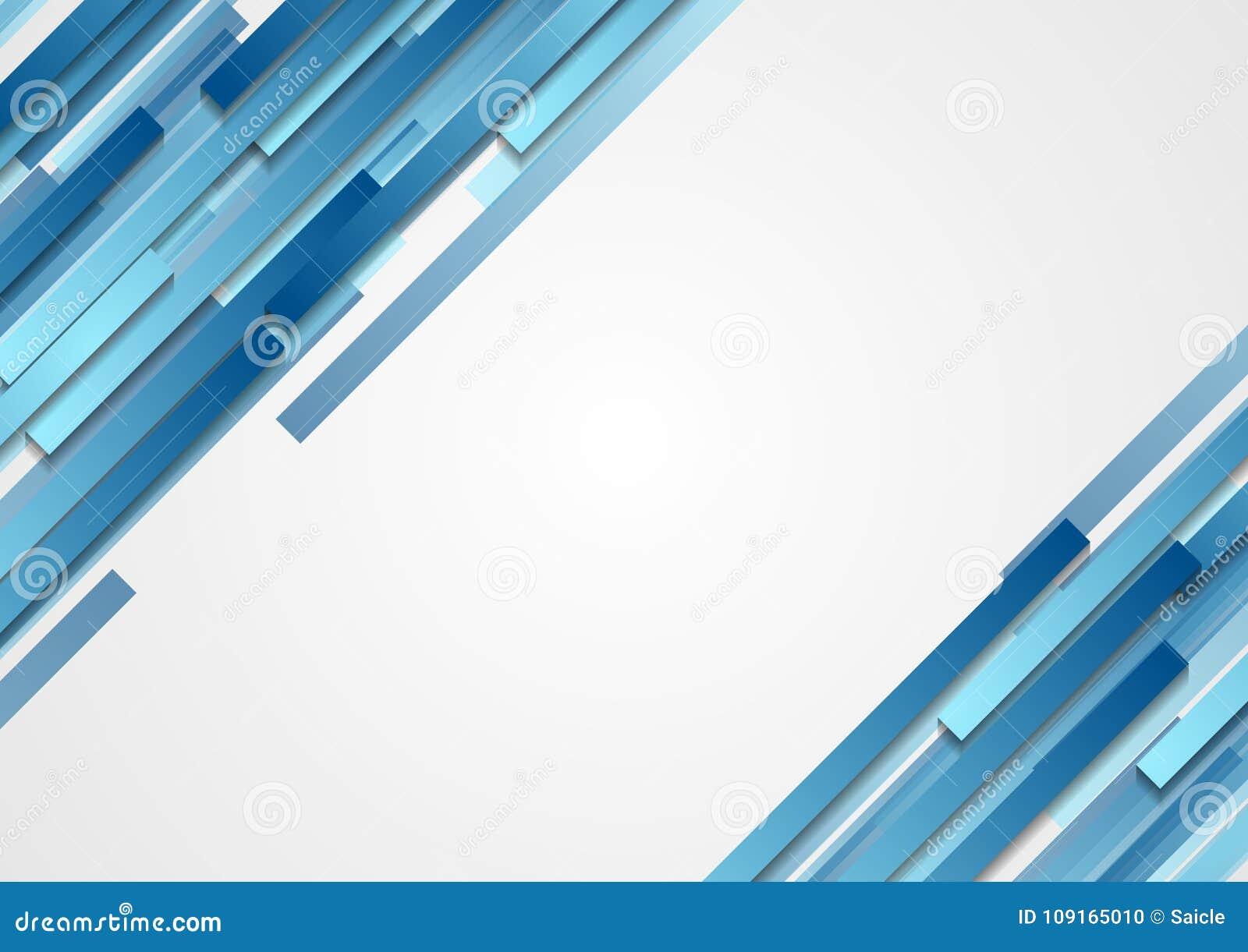 La diagonale astratta geometrica blu di tecnologia barra il fondo