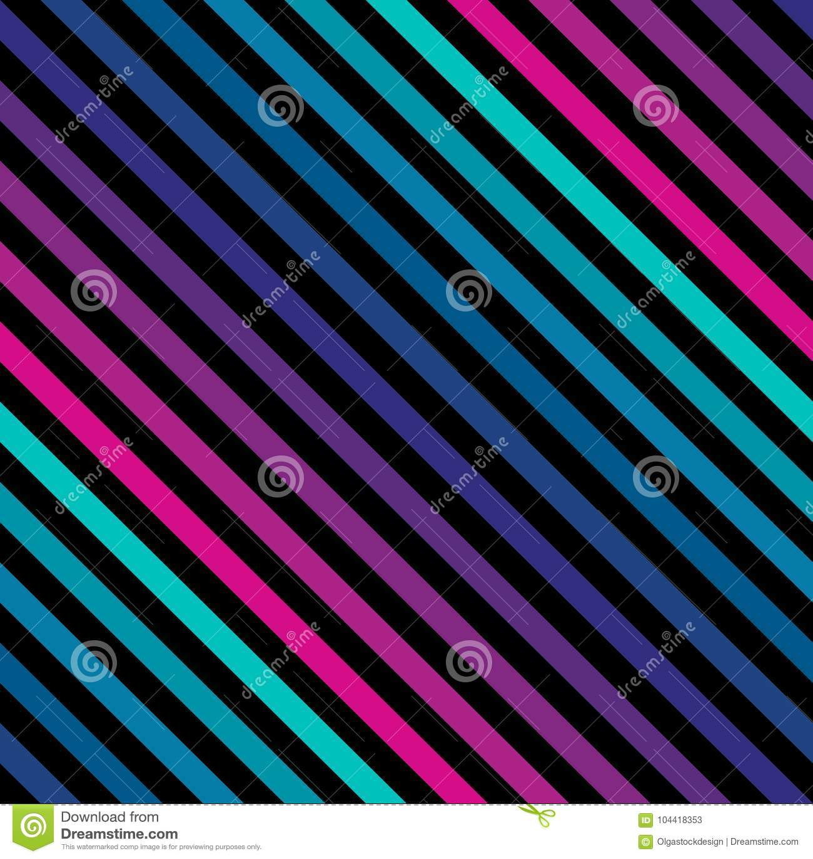 La diagonale barre le modèle sans couture dans les couleurs lumineuses au néon Rétro configuration