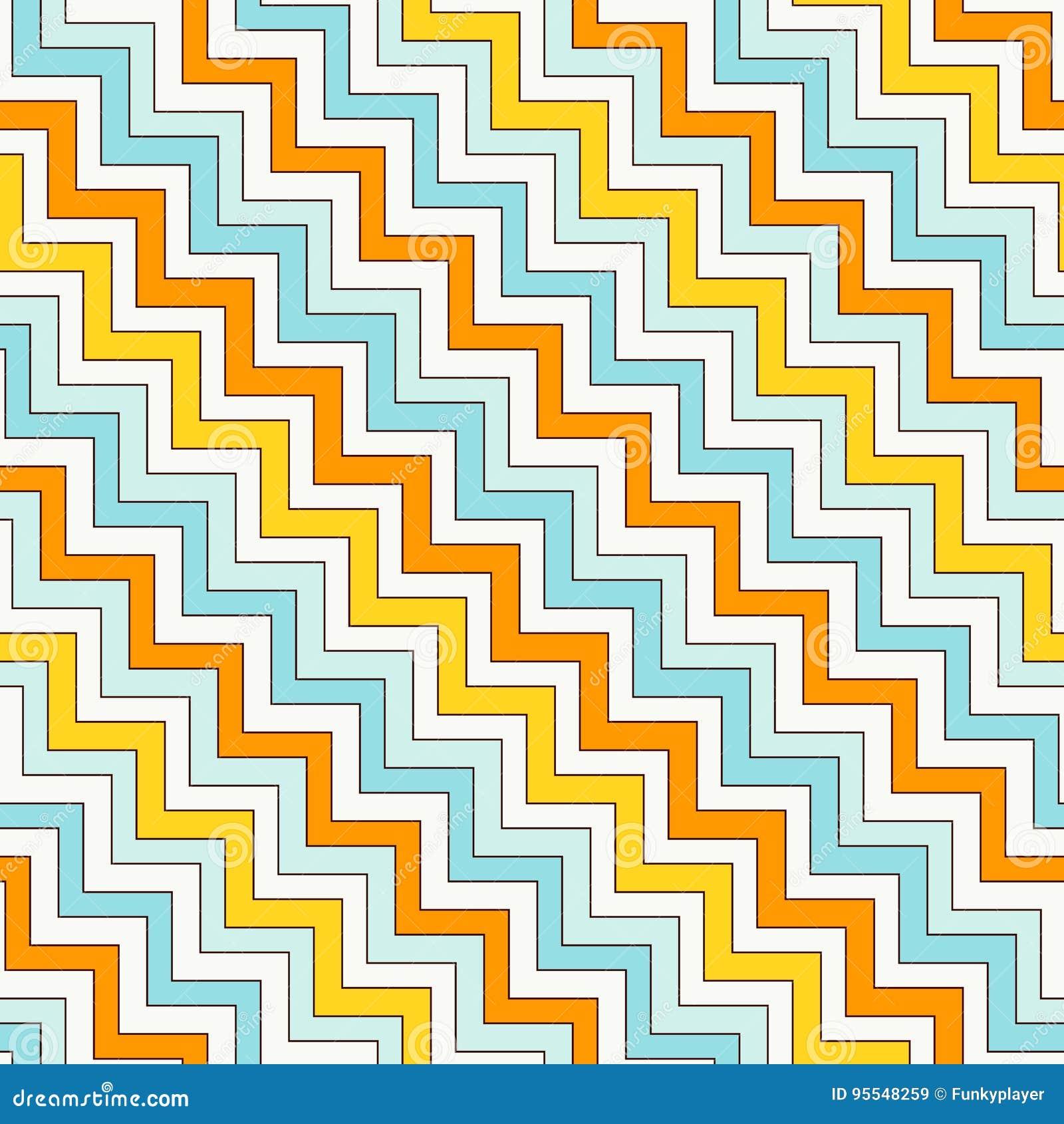 La diagonale di zigzag di Chevron allinea il modello senza cuciture Fondo astratto a strisce con l ornamento geometrico classico