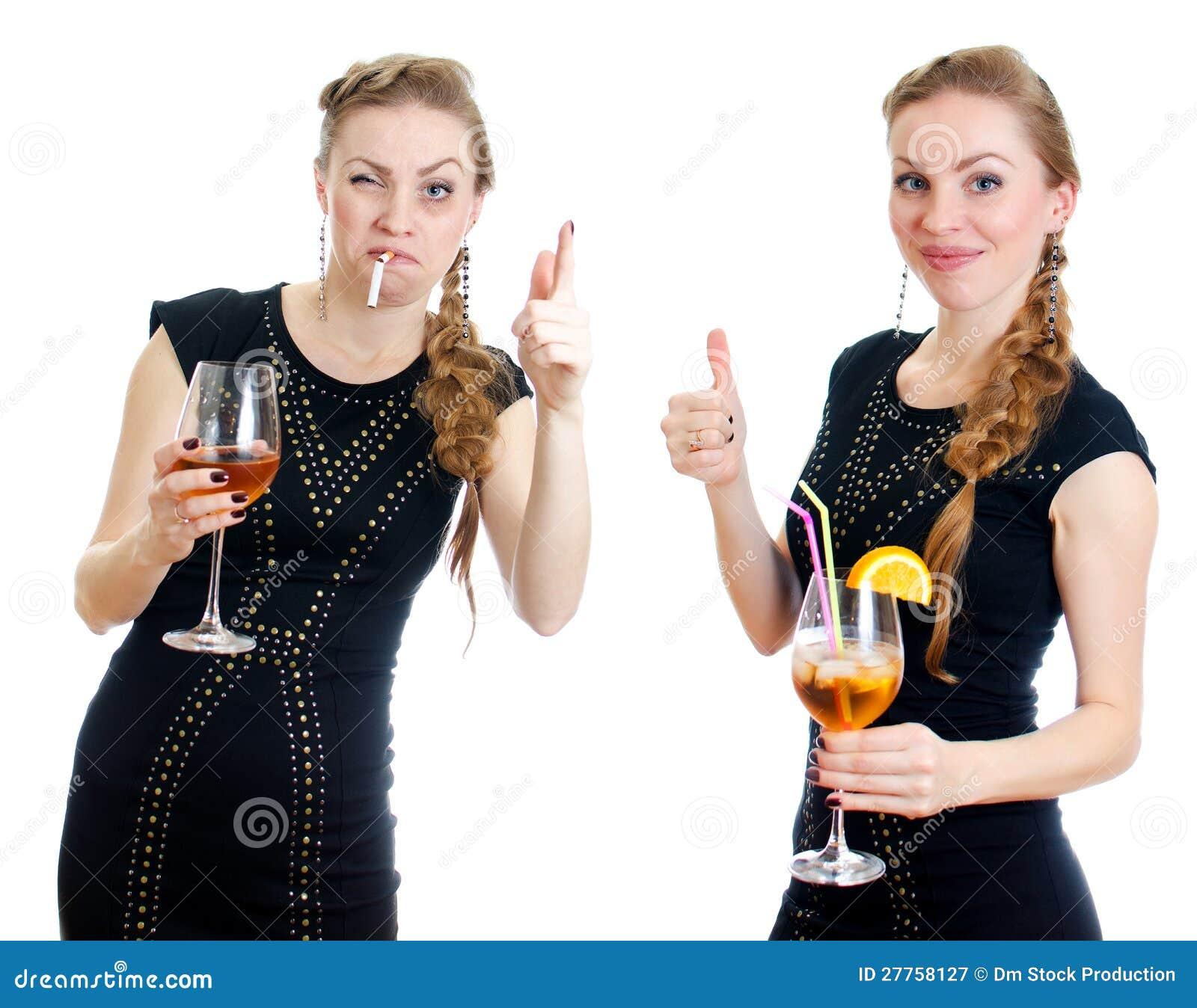 La différence entre la femme ivre et sobre.