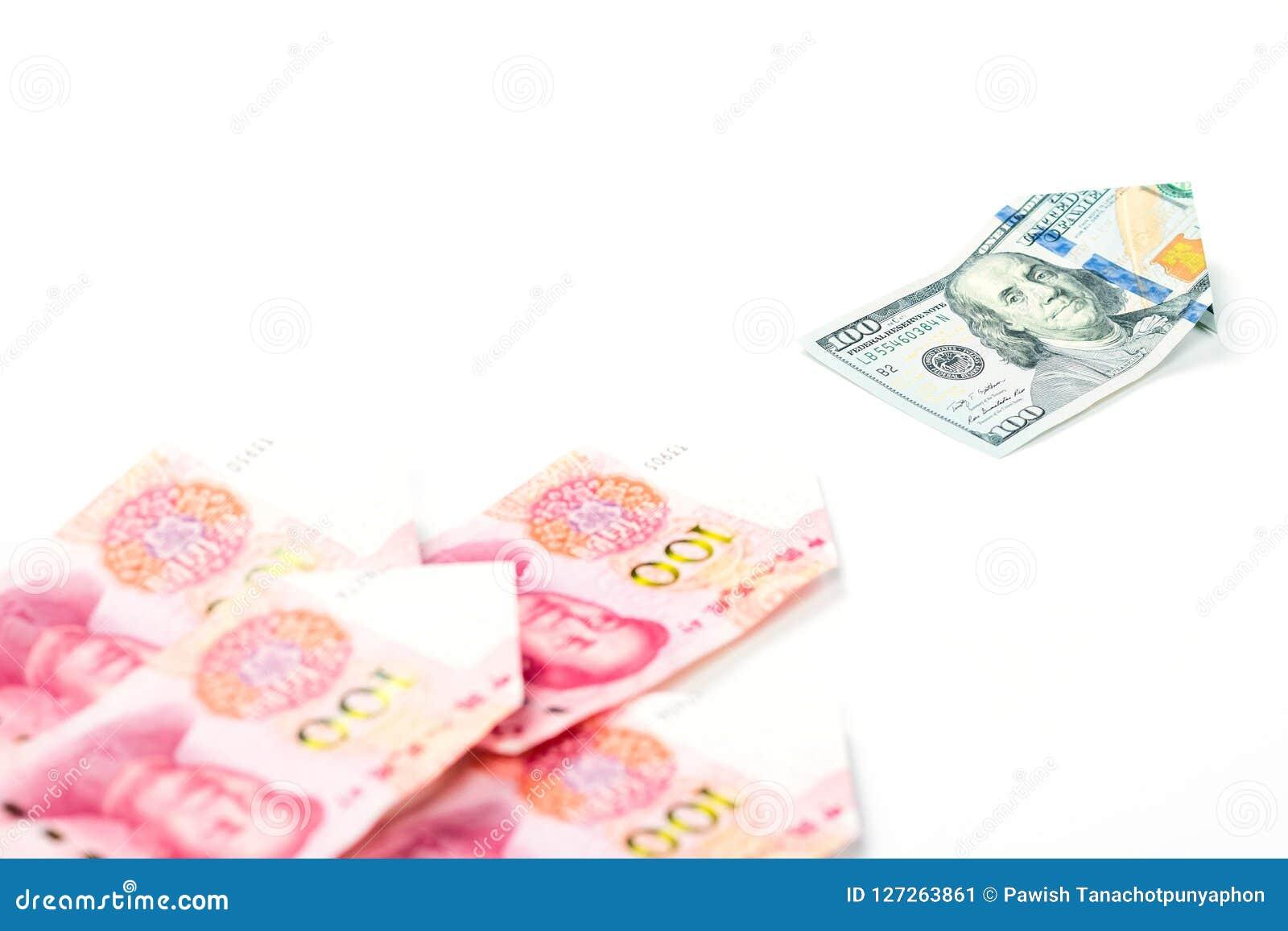 La direction et le concept différent avec le dollar US affichent le principal Chi