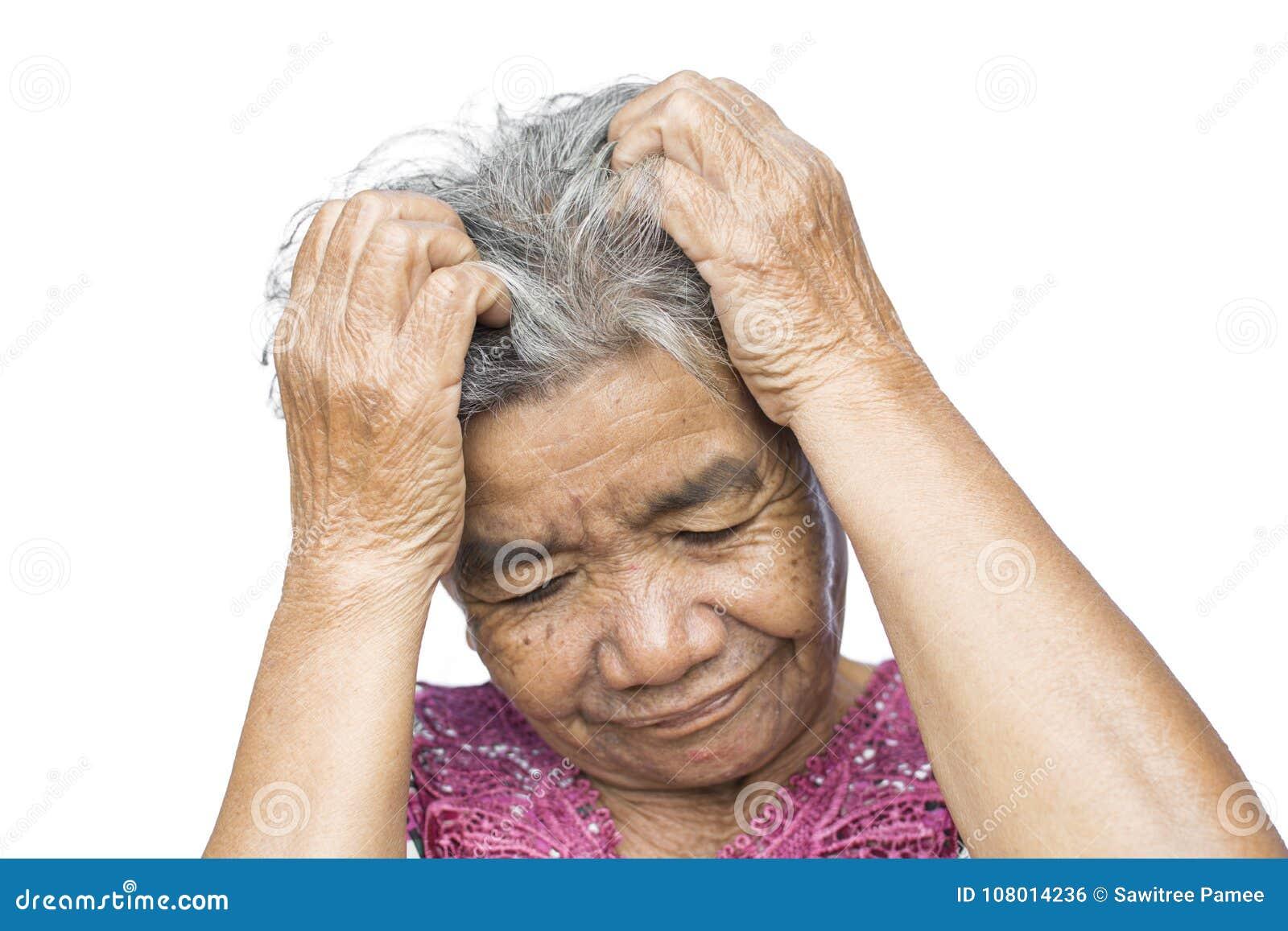 La Donna Anziana Ha Ritenuto Molta Ansia Circa Perdita Di ...