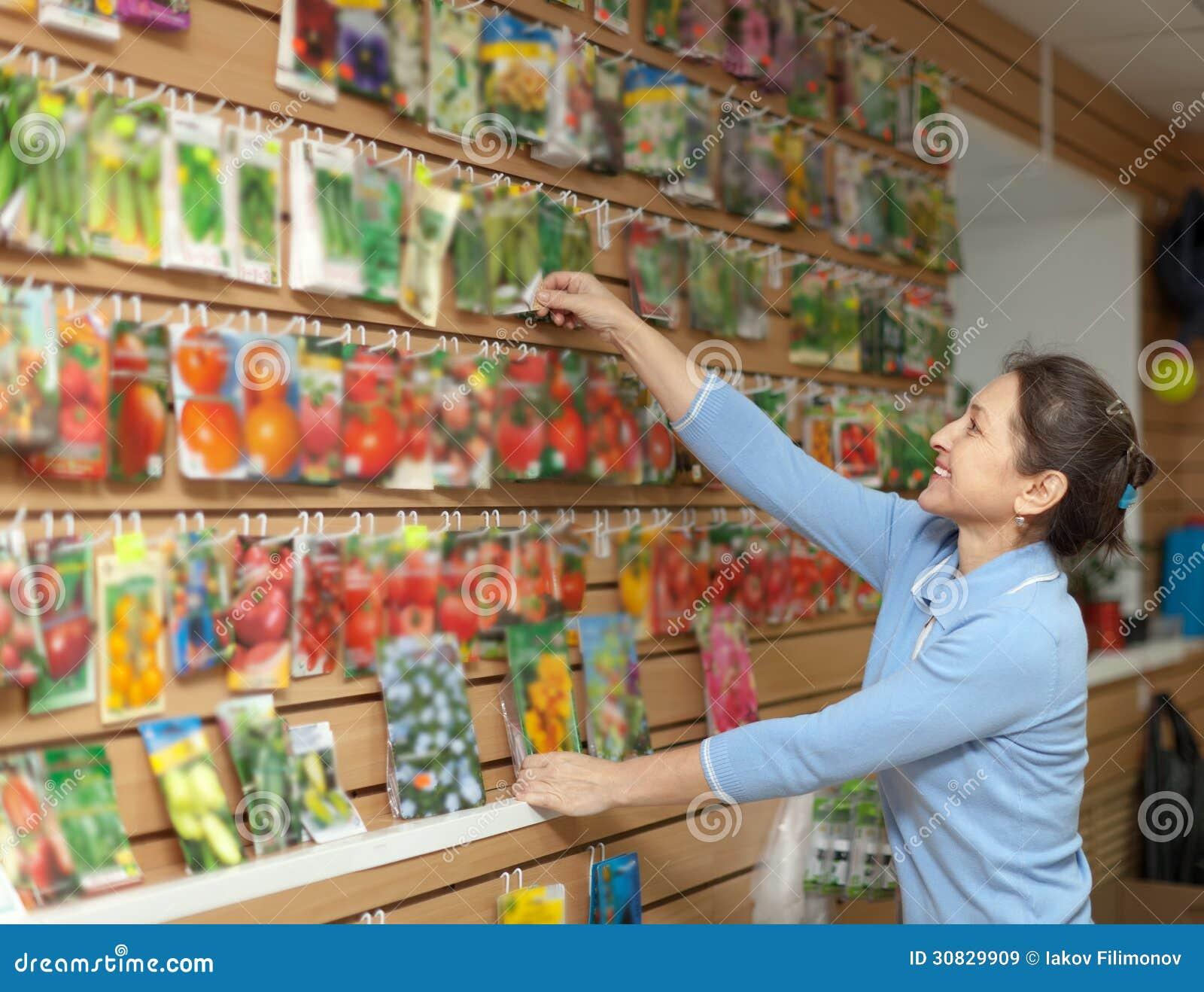 La donna sceglie i semi