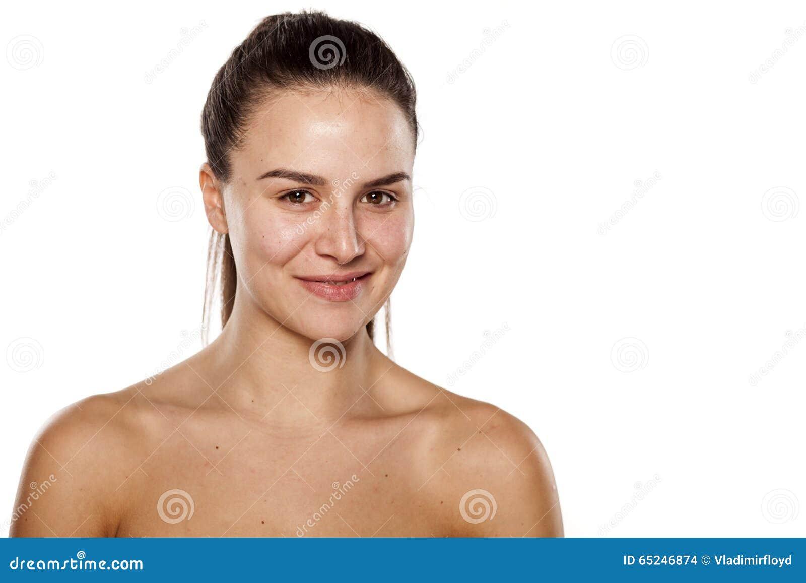 La donna sorridente senza compone