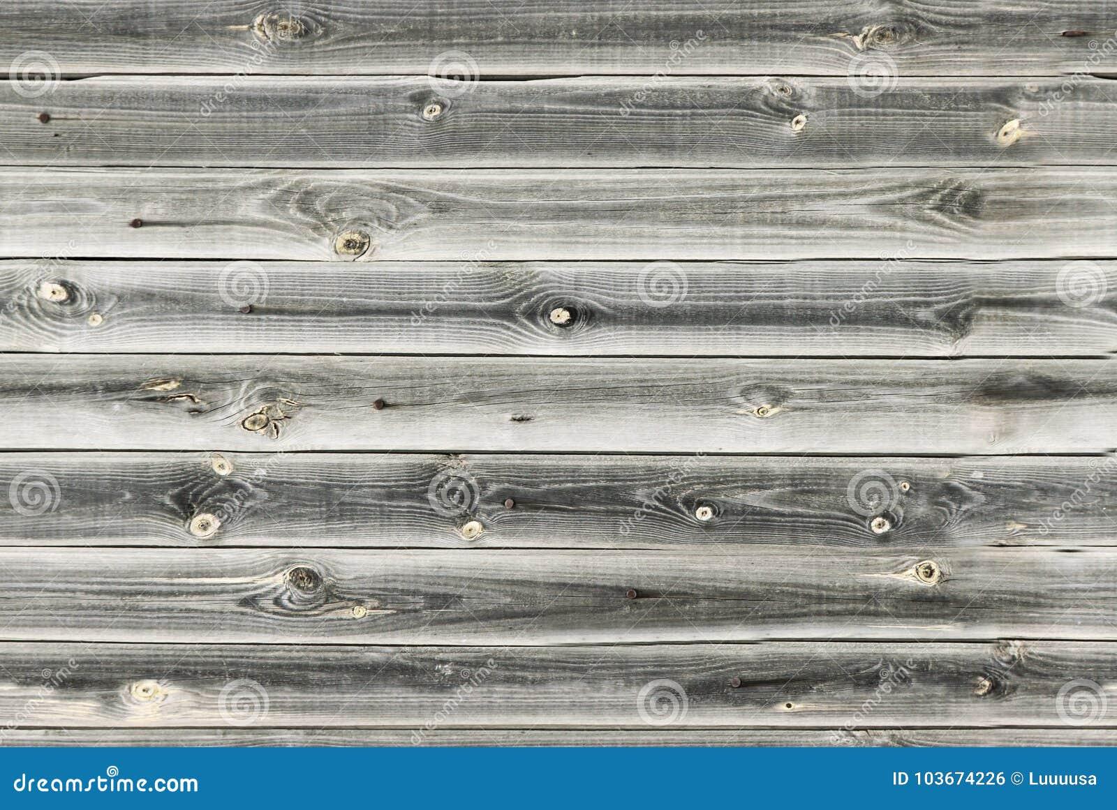 La doublure en bois embarque le mur Texture en bois blanche et grise vieux panneaux de fond, modèle sans couture Planches horizon