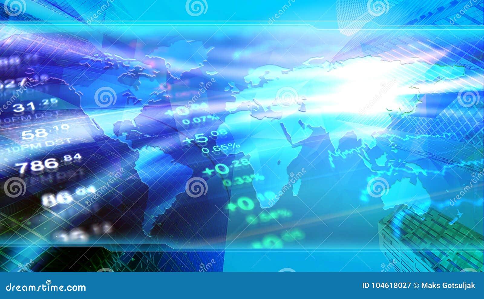 La economía global, finanzas, negocio, invierte el papel pintado