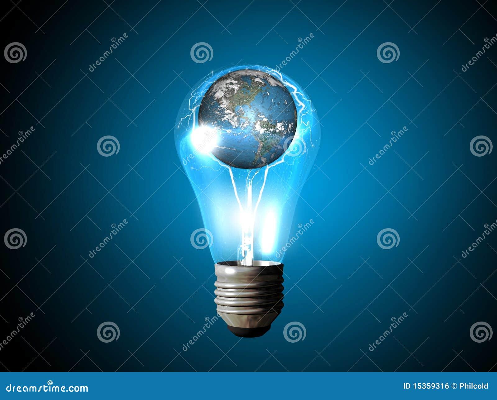 La electricidad enciende el mundo imagen de archivo libre for Electricidad