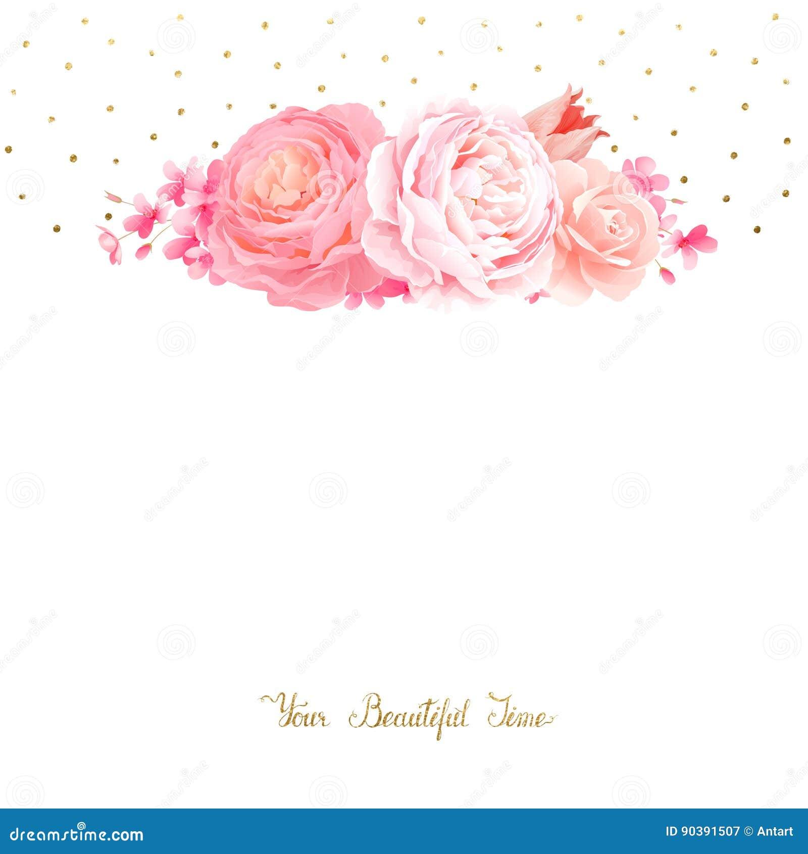 La elegancia florece el ramo de rosas y de tulipán del color Composición con las flores del flor