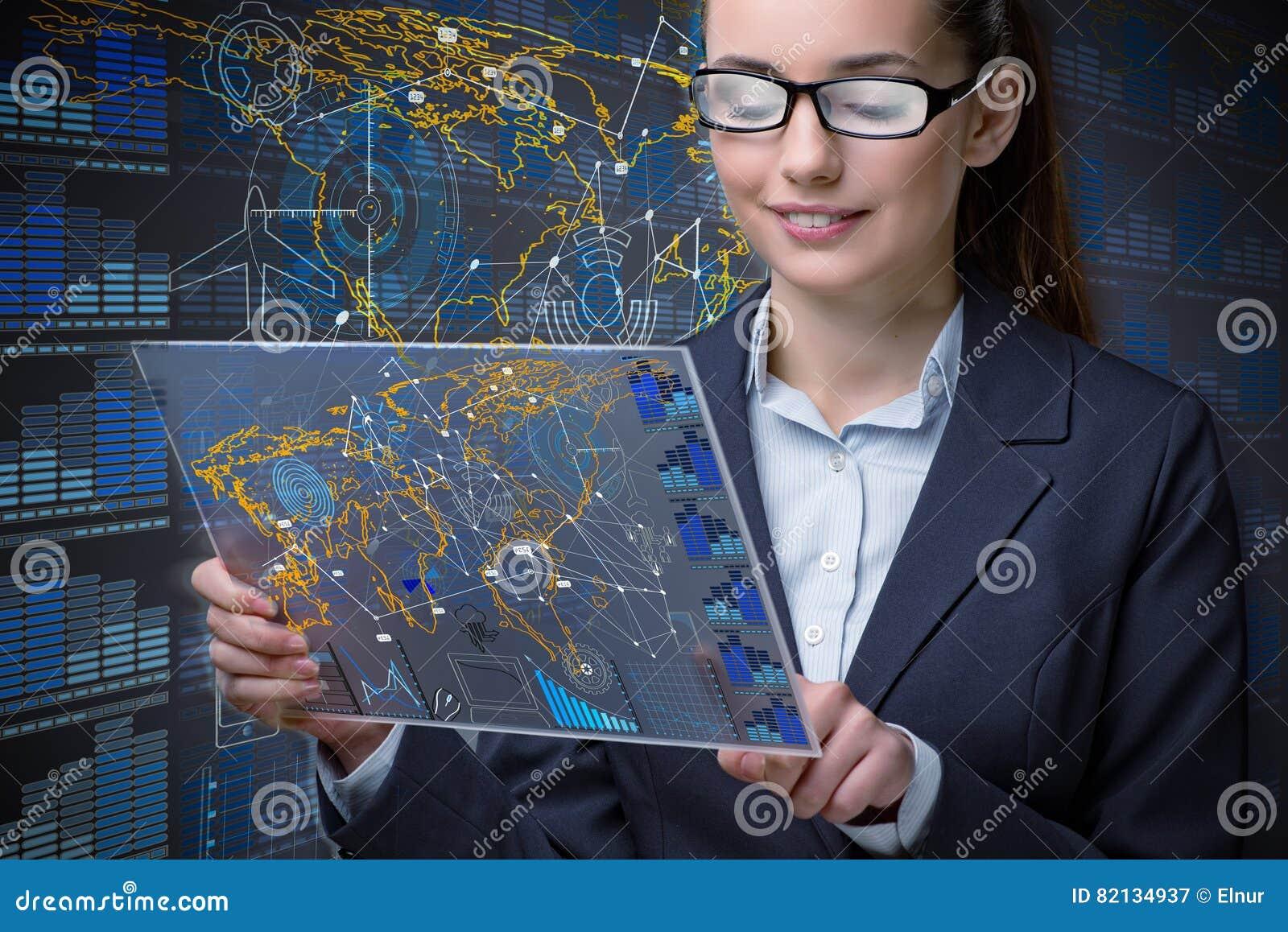 La empresaria en concepto de la minería de datos