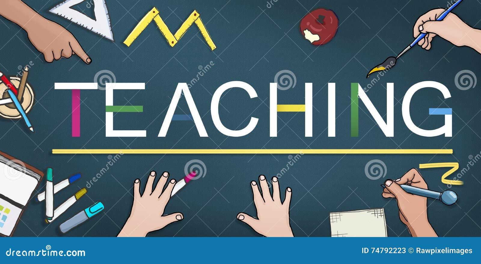 La enseñanza enseña al profesor Training Development Concept