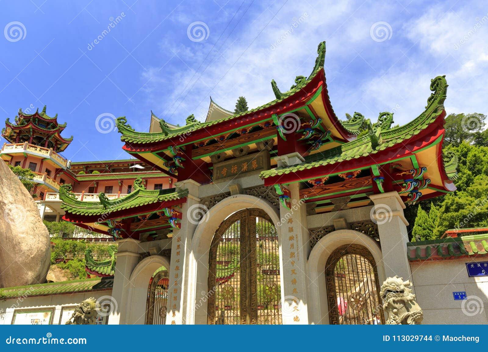 La entrada principal del templo huxiyan, adobe rgb
