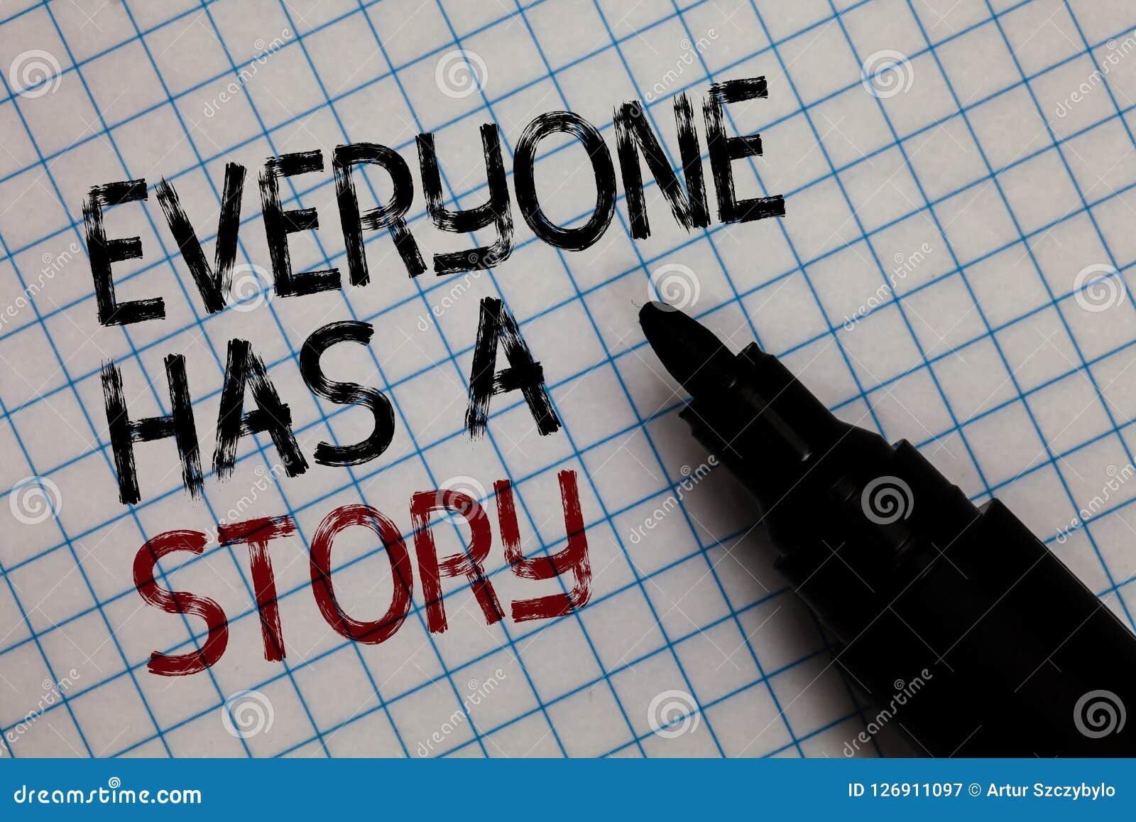 La escritura conceptual de la mano que muestra todo el mundo tiene una historia Narración del fondo del texto de la foto del nego