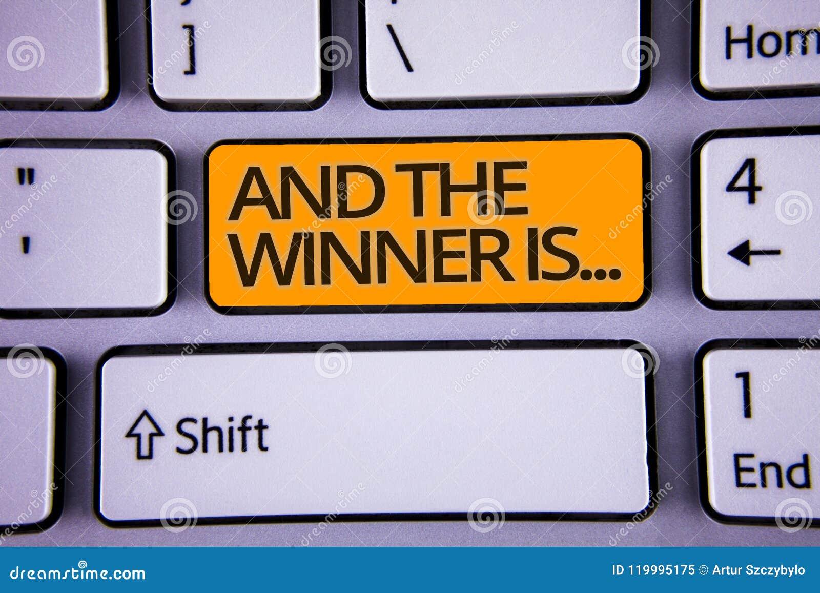 La escritura del texto de la escritura y el ganador es El significado del concepto que anuncia como primero coloca en polishe del
