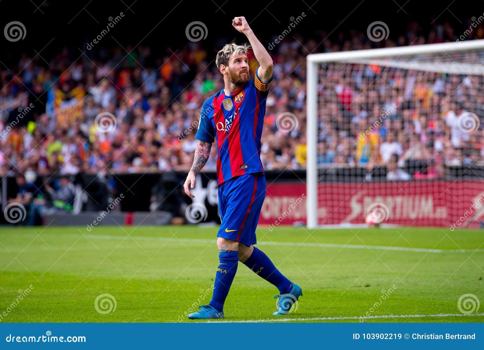 La español Liga: FC Barcelona del Valencia CF v