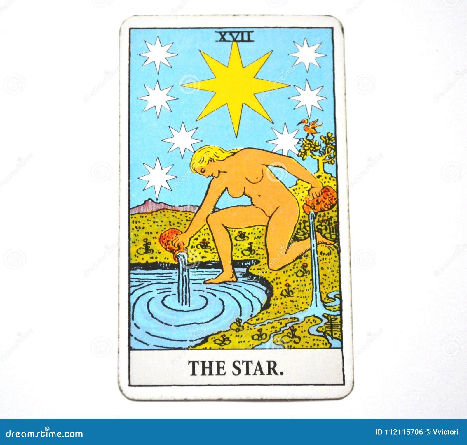 La Esperanza De La Carta De Tarot De La Estrella Felicidad Oportunidades Optimismo Renovación Espiritualidad Stock De Ilustración Ilustración De Esperanza Optimismo 112115706