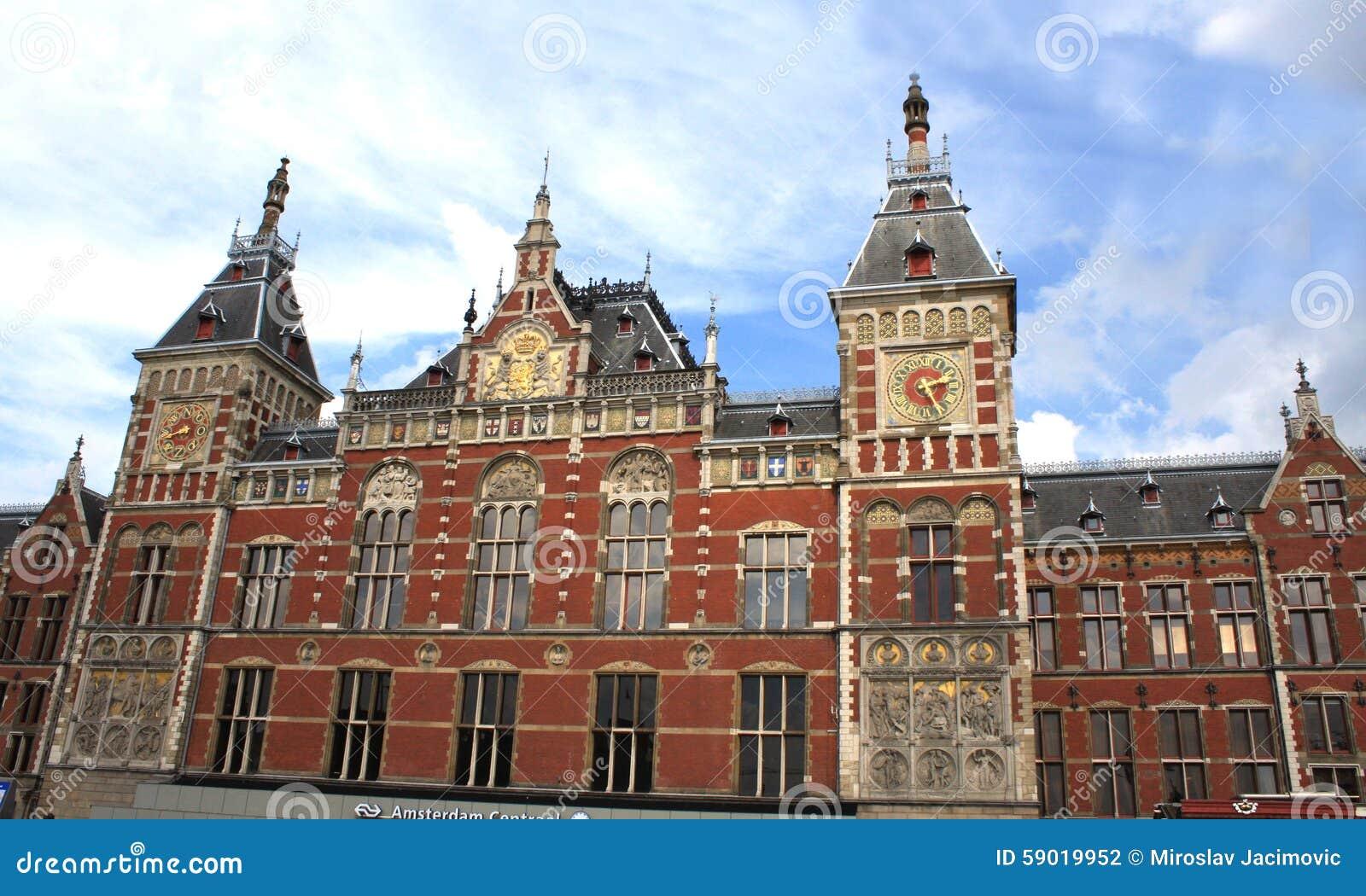 la estacin de tren central de amsterdam cs de amsterdam holanda foto de
