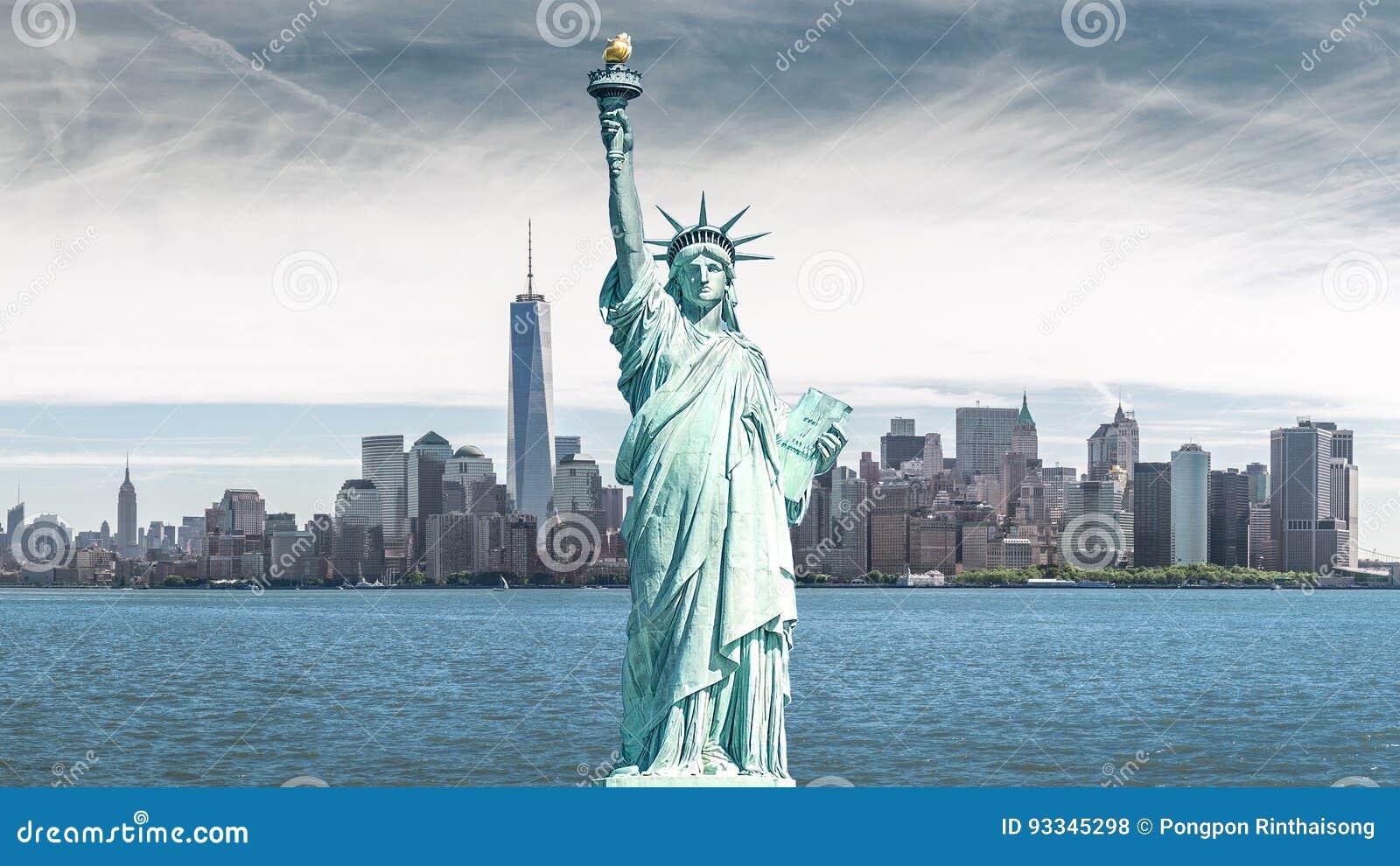 La estatua de la libertad, señales de New York City