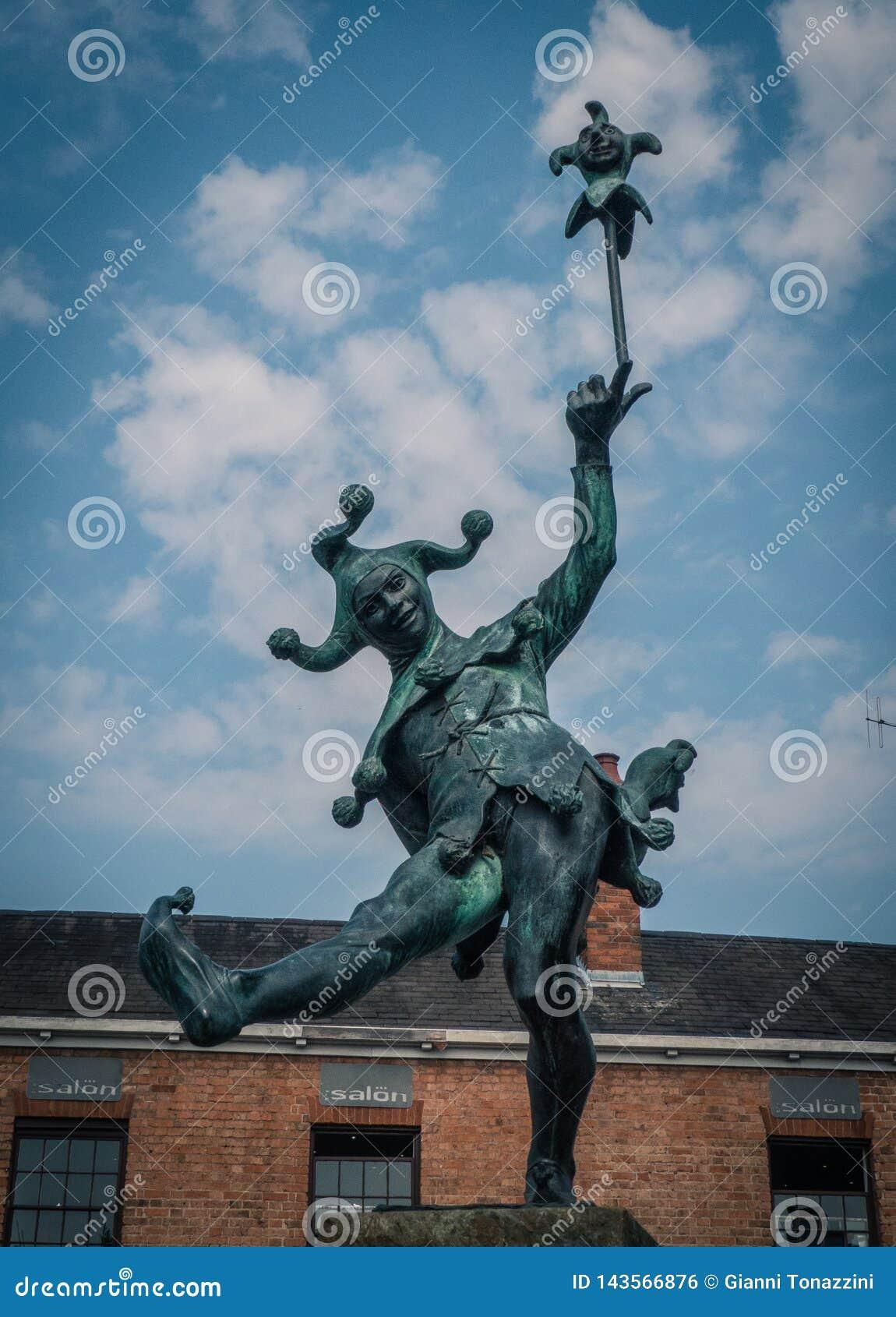 La estatua del bufón, Stratford-sobre-Avon, Reino Unido