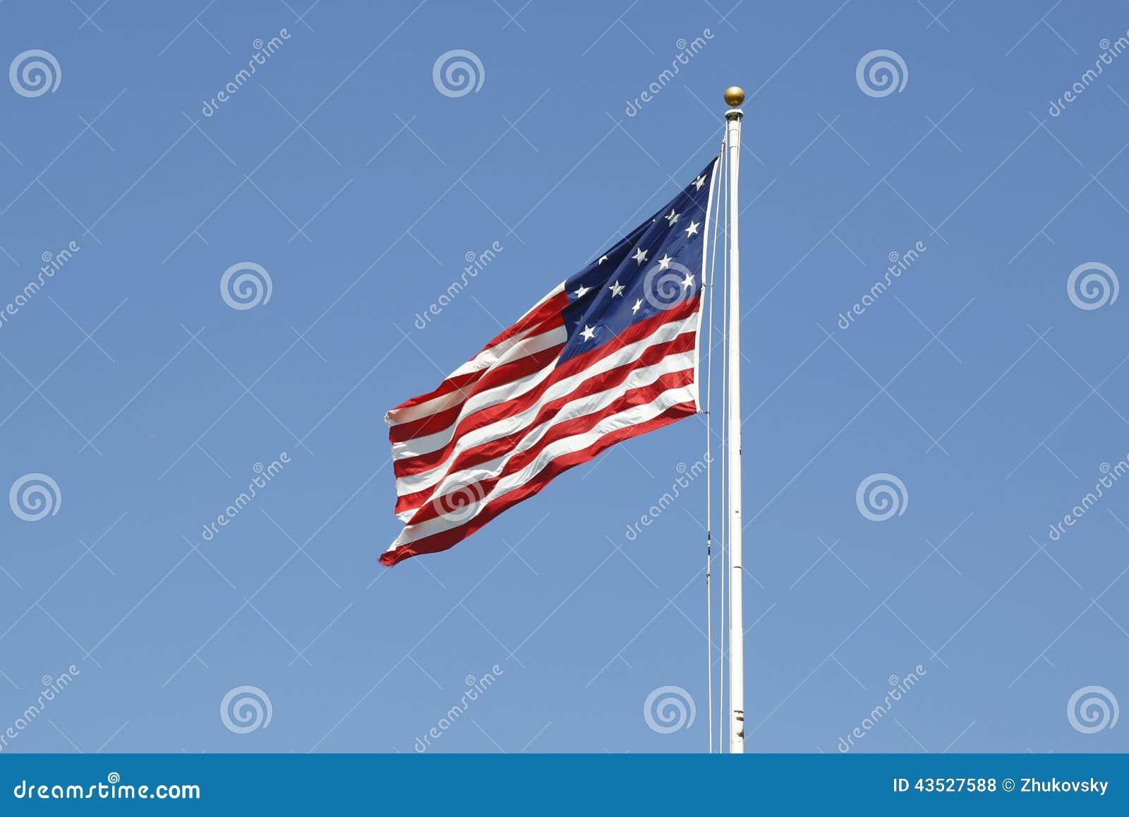 La estrella de la raya 15-star 15 Spangled la bandera americana de la bandera
