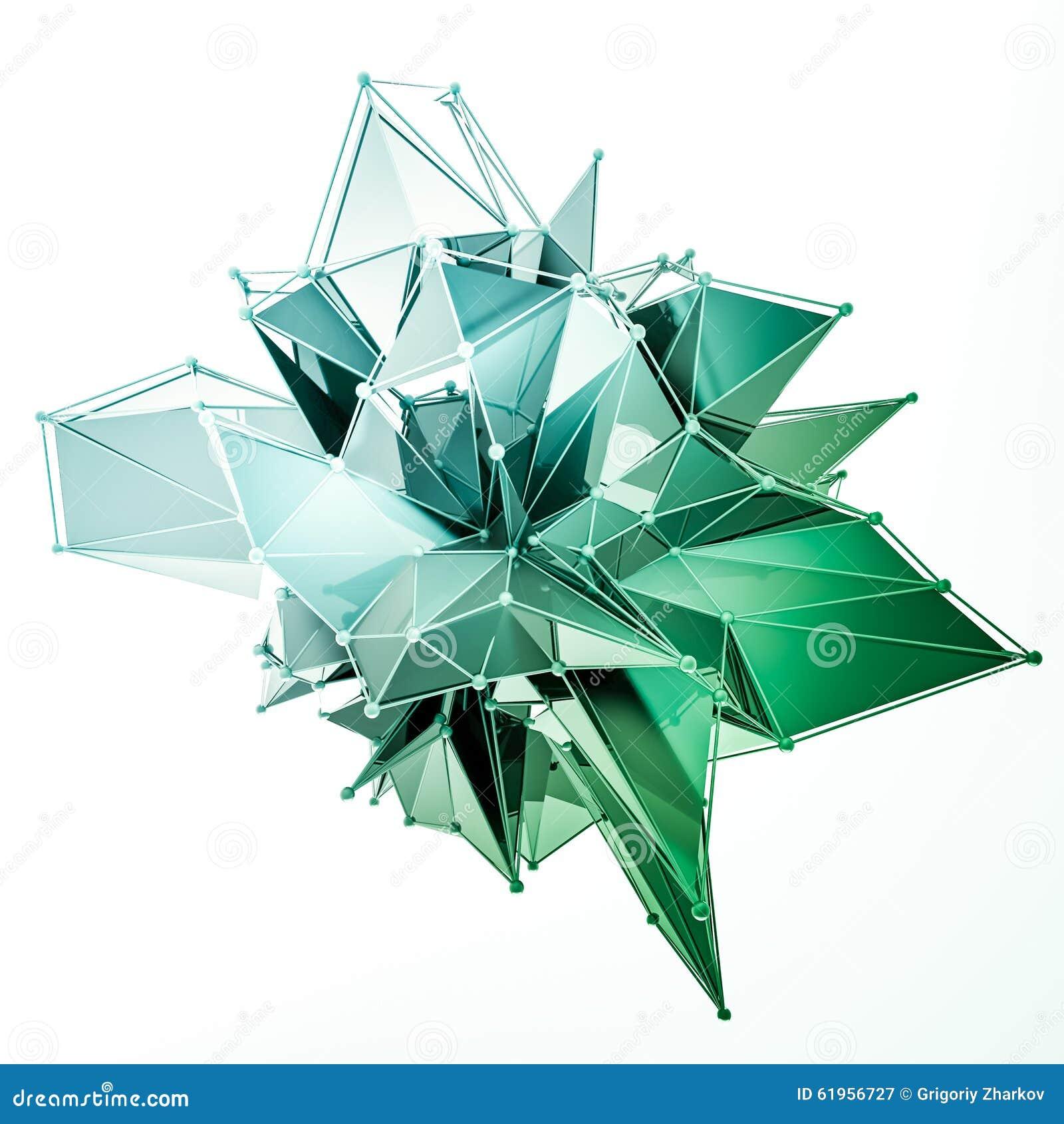 La Estructura 3d Rinde Los Gráficos De Ordenador Cg Ejemplo