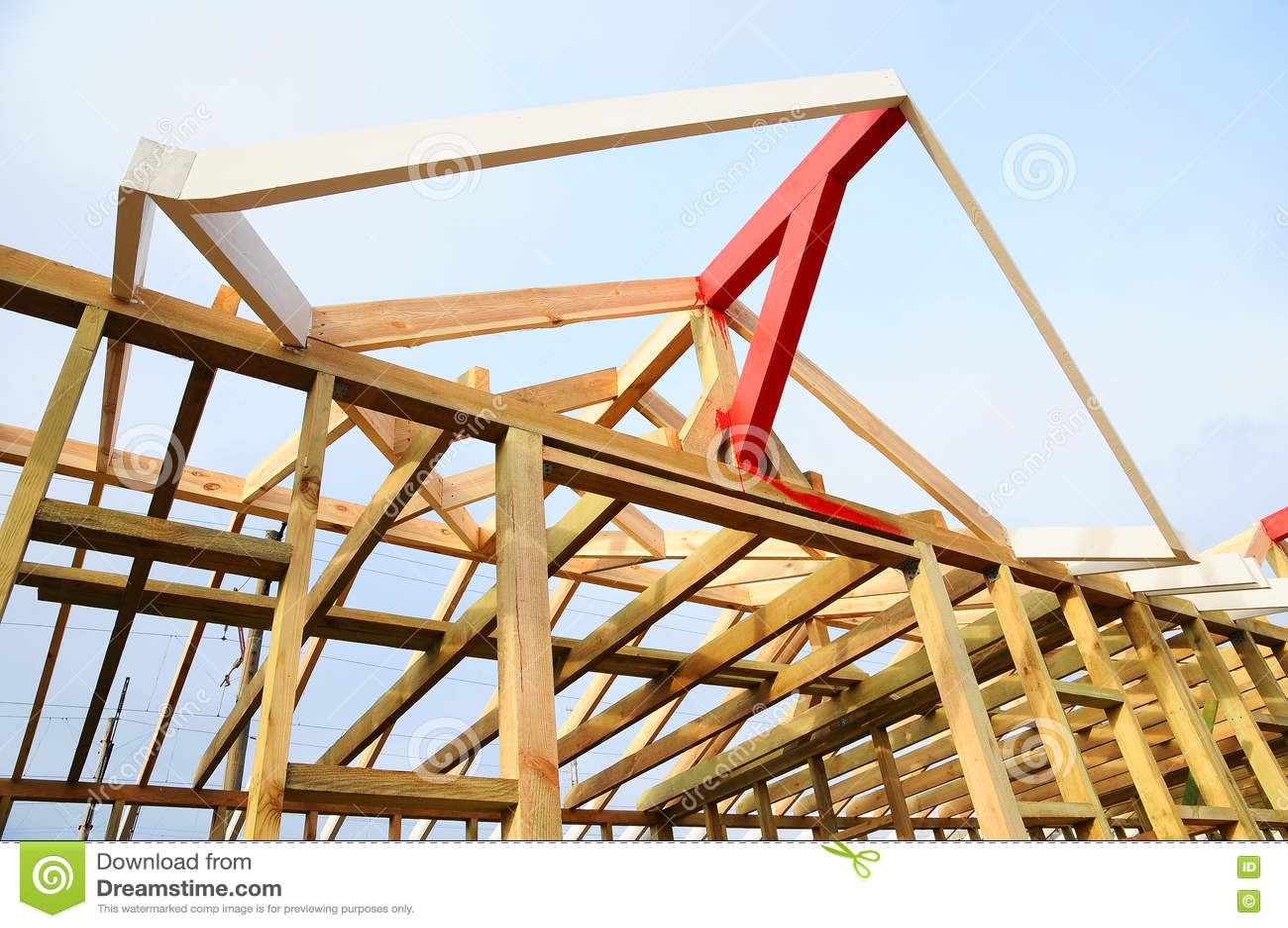 Casas con estructura de madera affordable estructura de - Estructura casa madera ...