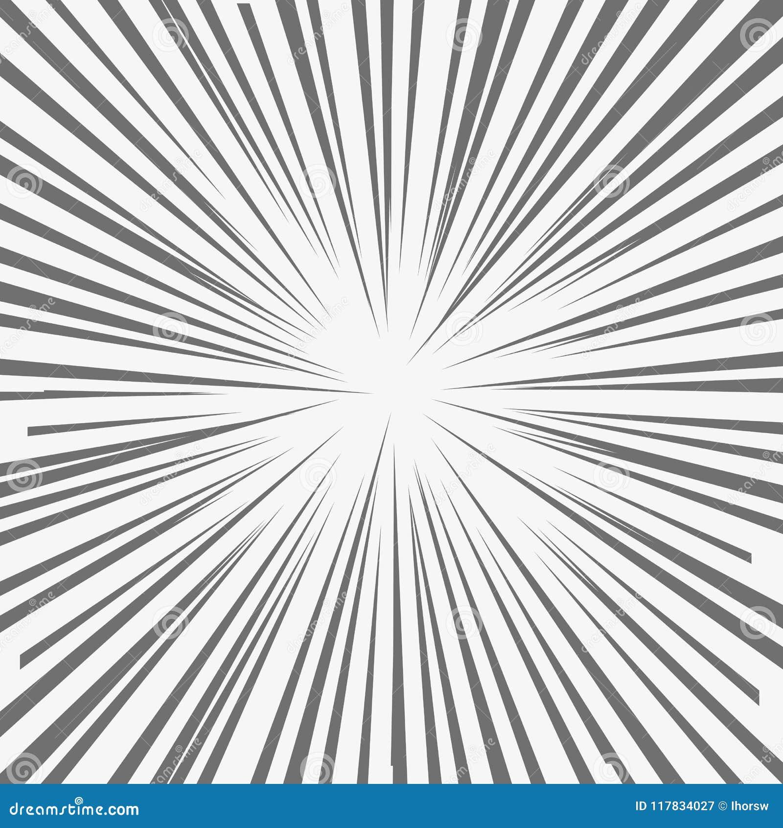 La explosión abstracta del flash del cómic, parte radial alinea el fondo Ejemplo del vector para el DES del super héroe