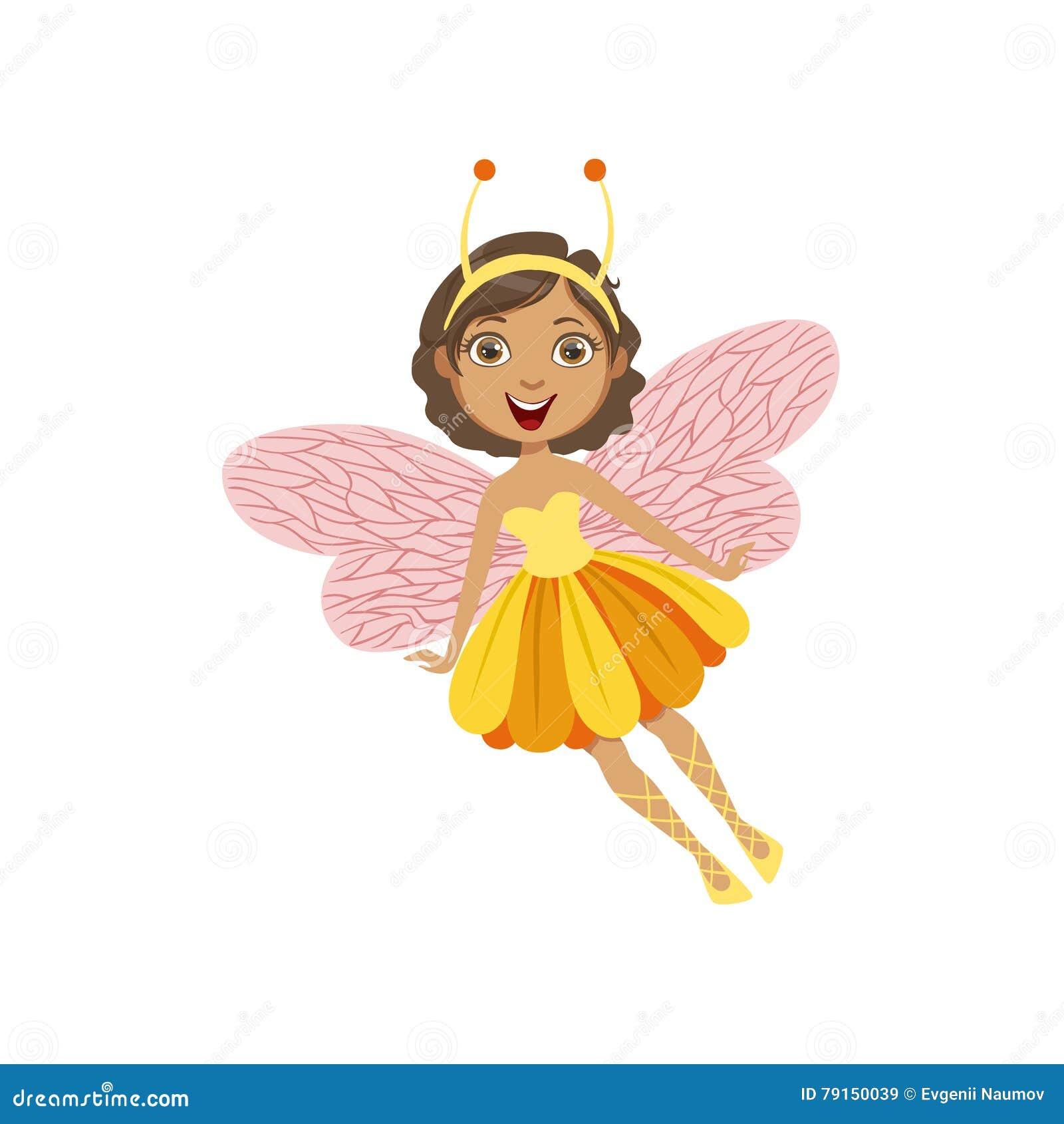 La Fee Mignonne Avec L Insecte Comporte Le Personnage De Dessin Anime Girly Illustration De Vecteur Illustration Du Girly Avec 79150039