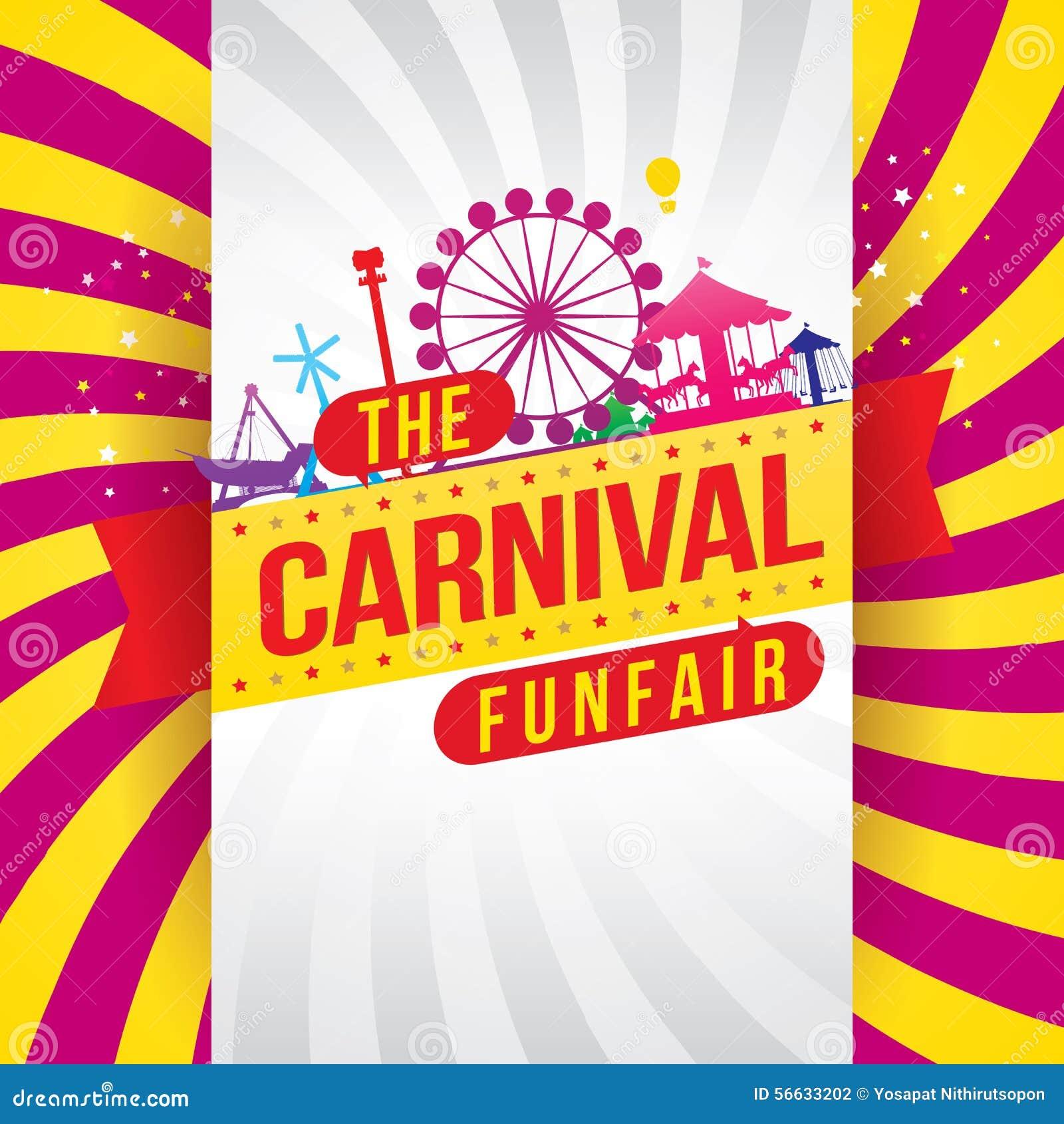 La fête foraine et le spectacle de magie de carnaval