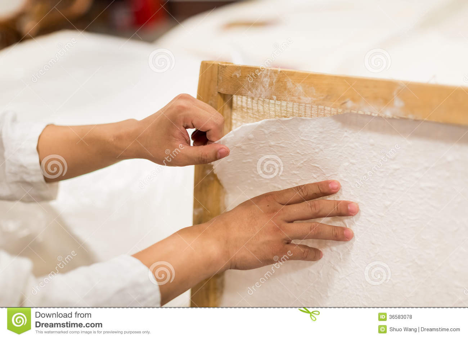 La fabrication du papier traditionnelle