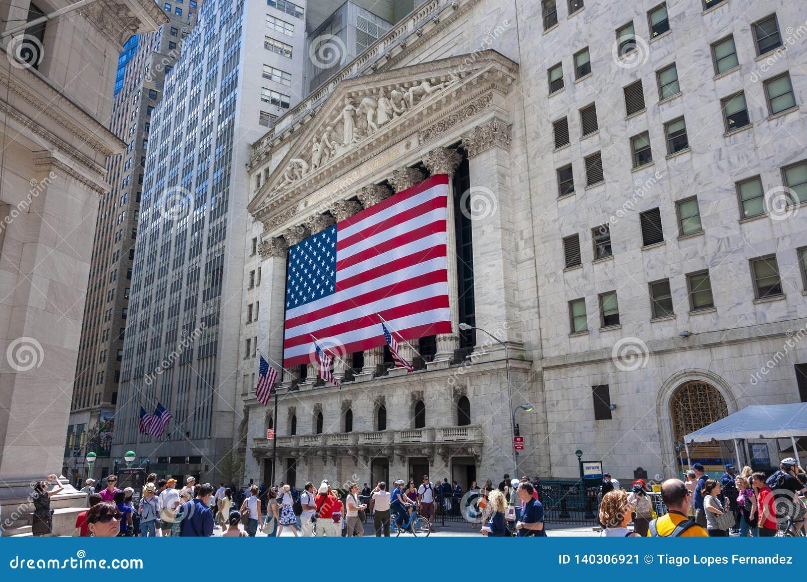 La fachada de New York Stock Exchange en Wall Street