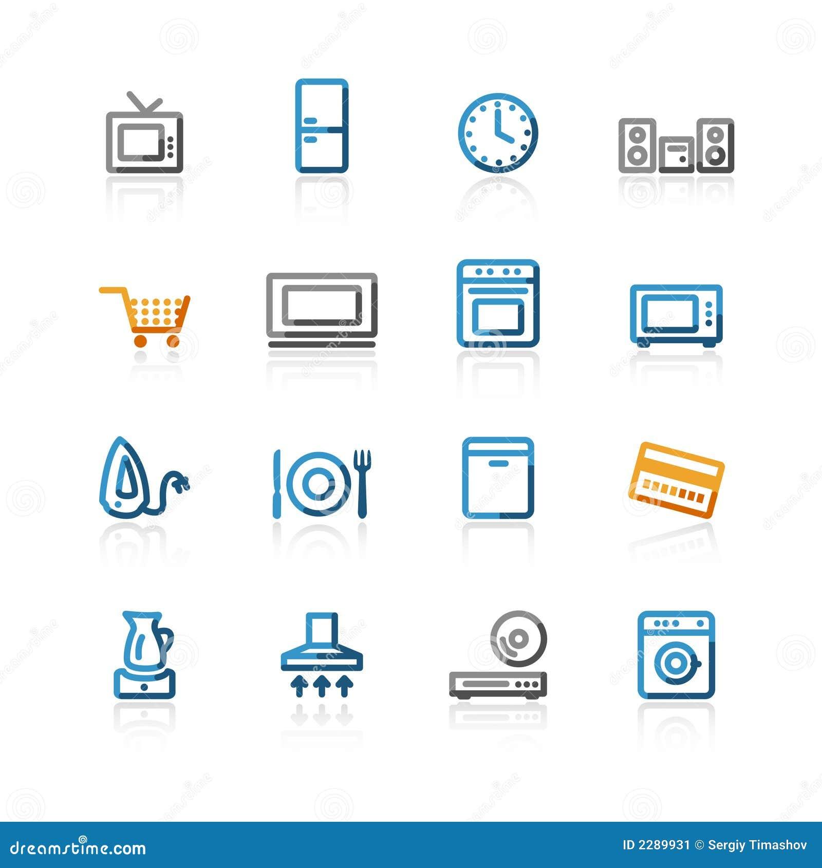 La famiglia di profilo e-acquista icone