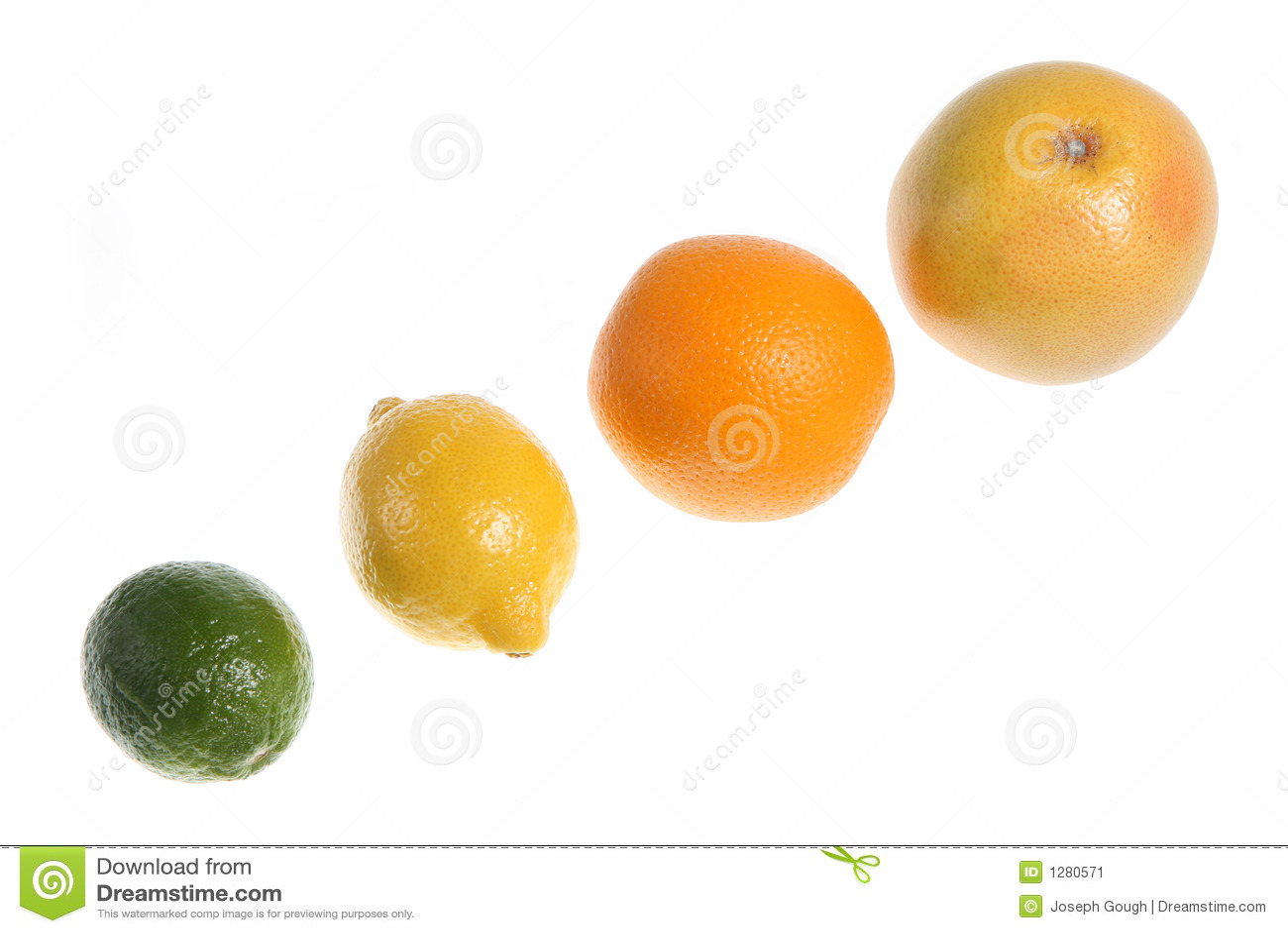 La familia de la fruta cítrica