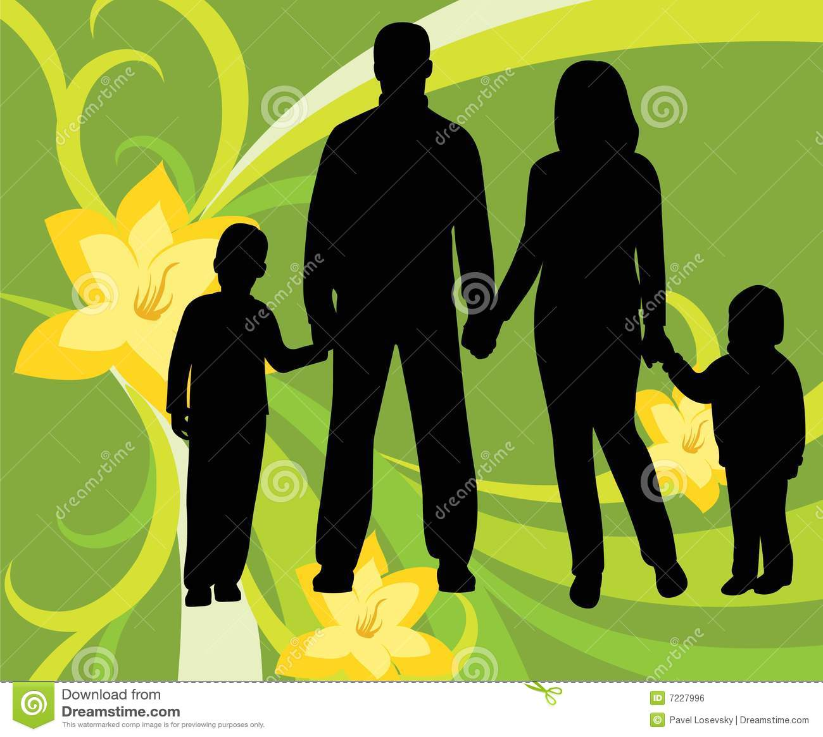 La familia, vector floral