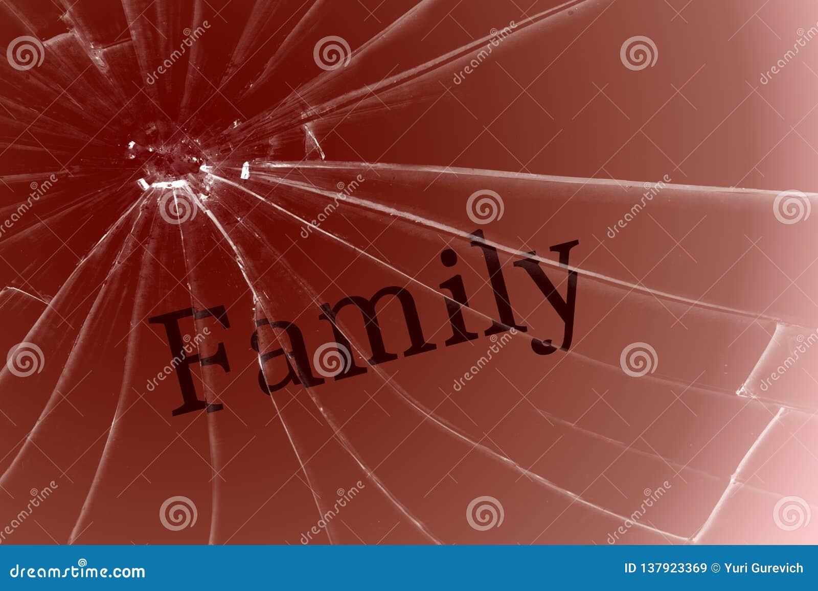 La famille des textes sur le verre cassé Mauvais termes, conflit ou solitude