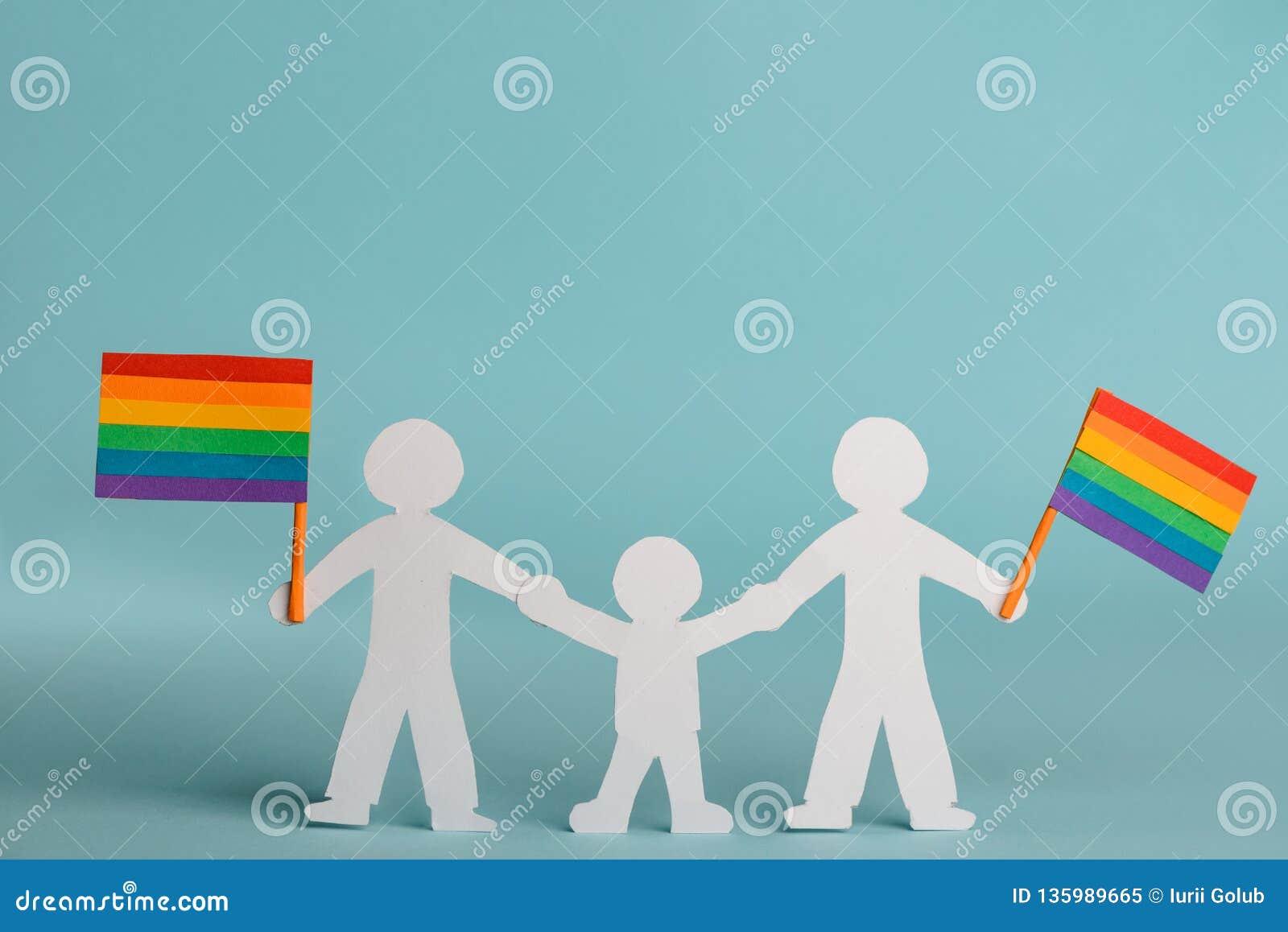 La famille gaie célèbre la fierté de LGBT