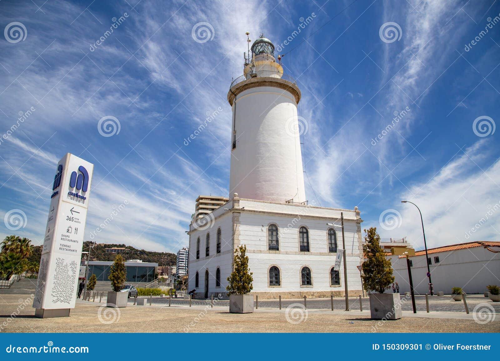 La Farola de phare à Malaga, Espagne