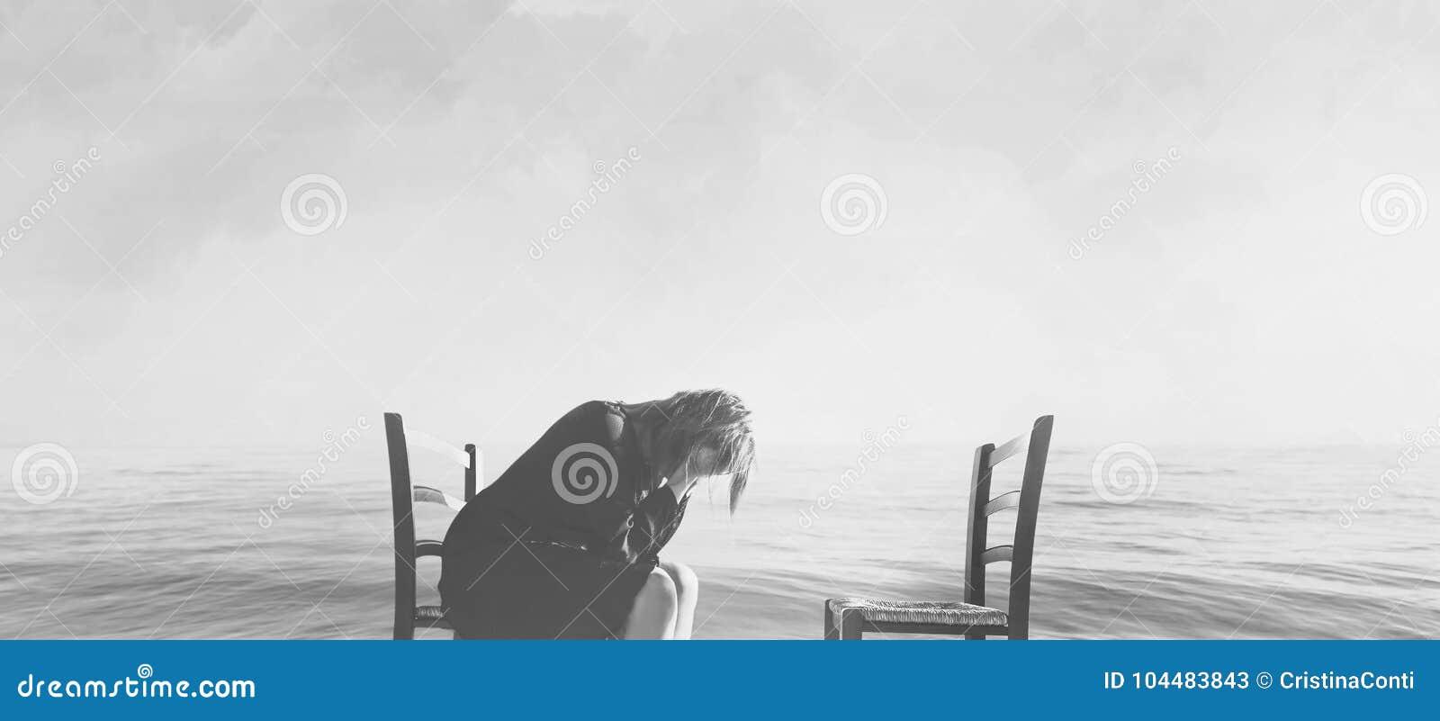 La femme désespérée pleure le manque de son amant