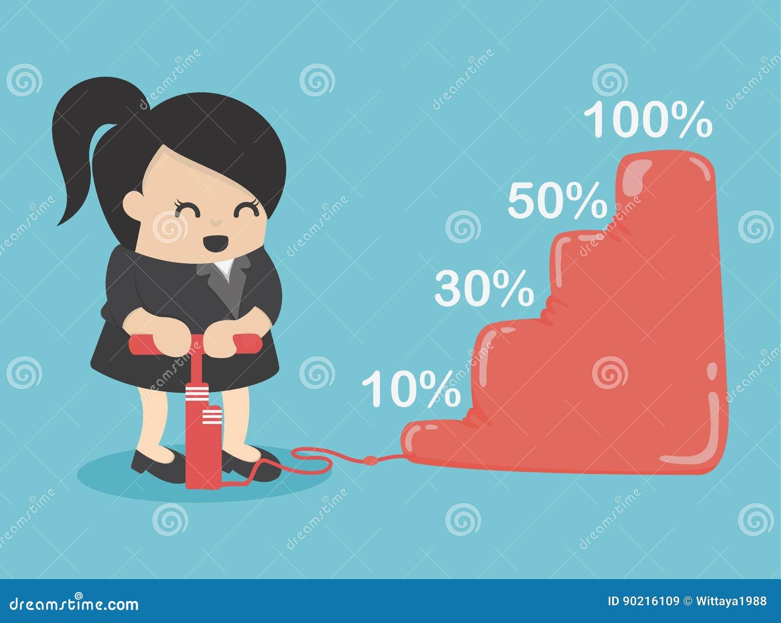 La femme d affaires font plus de revenu