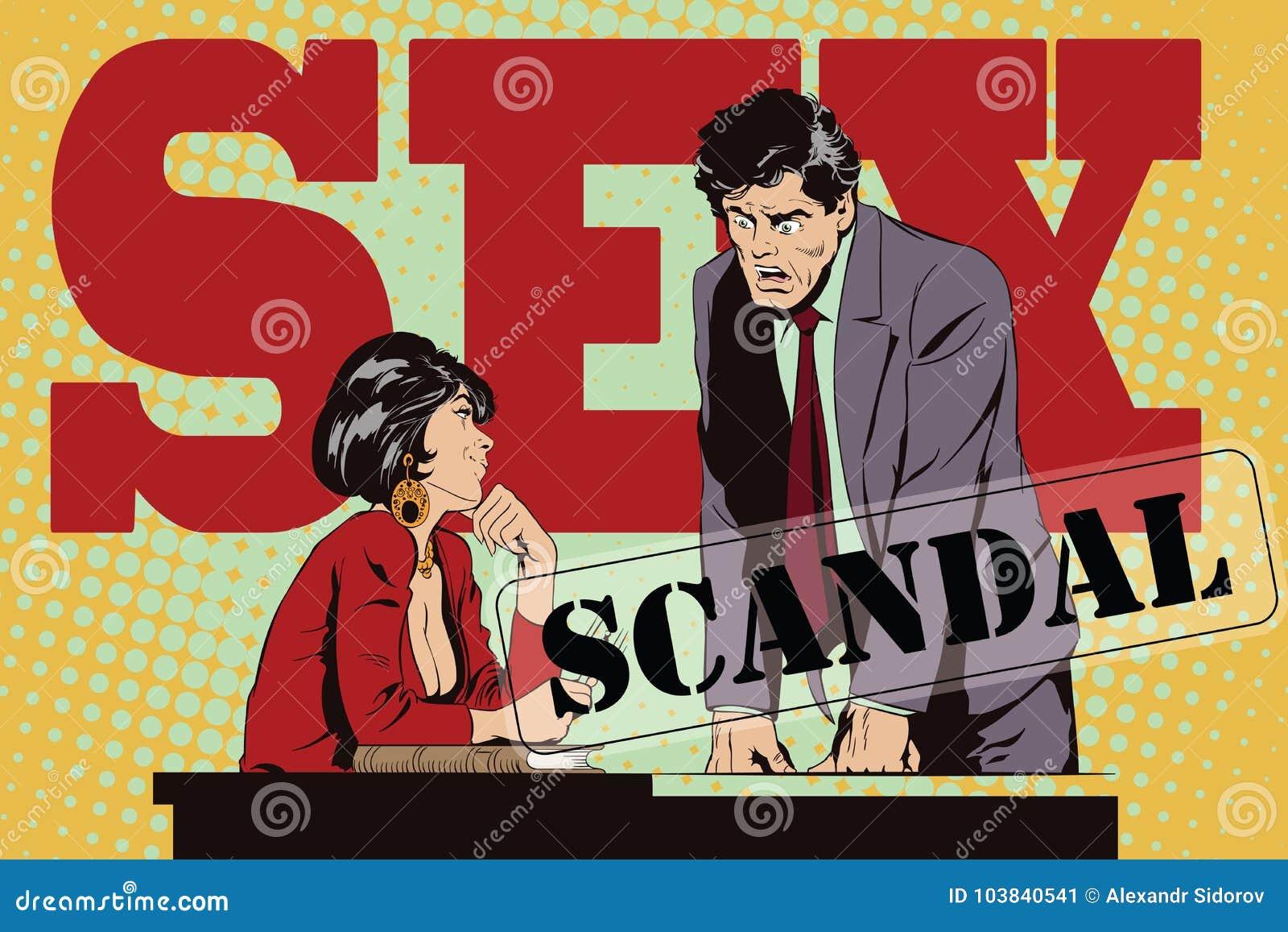 La femme flirte avec un type au travail ion Les gens