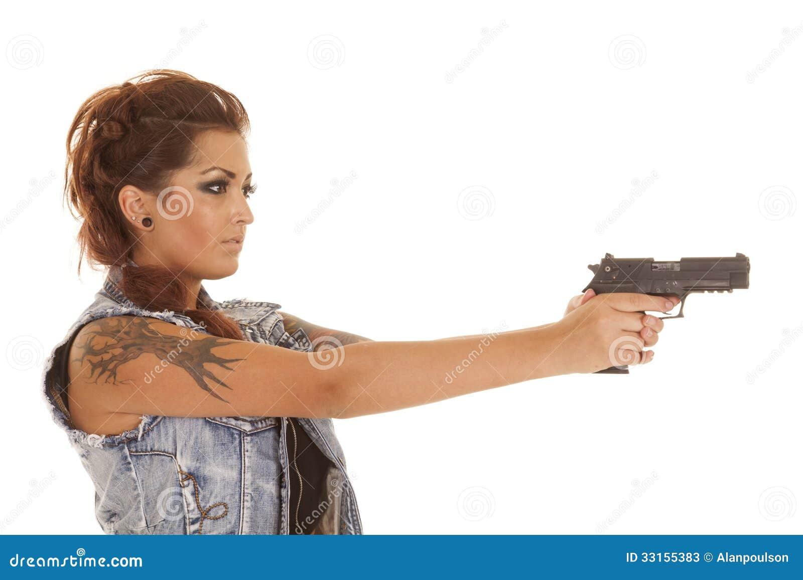 Point Femme Côté D'arme De Image À La Feu Stock Tatoue Le Du wP8Okn0X