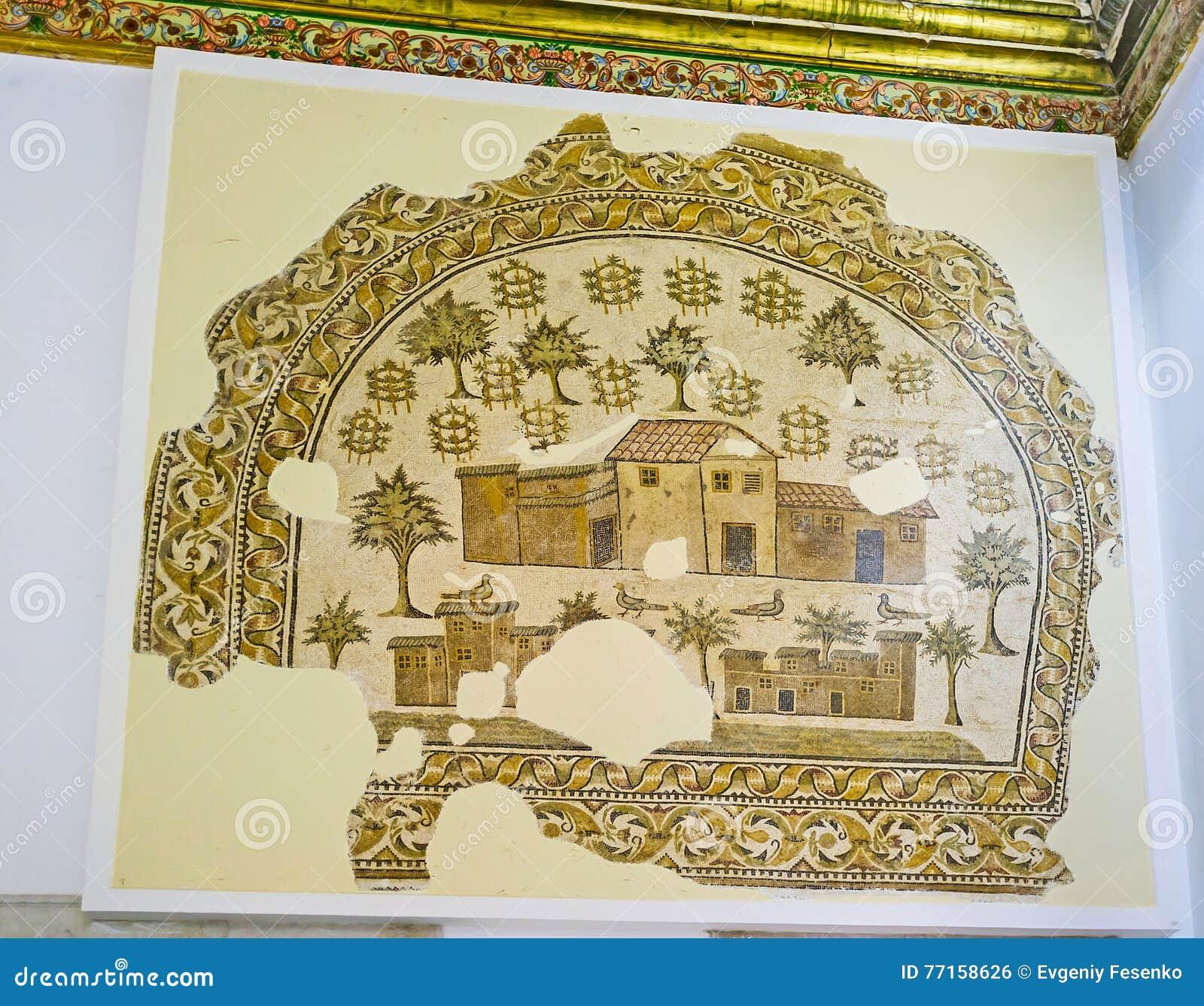 La ferme antique sur la photo de mosaïque