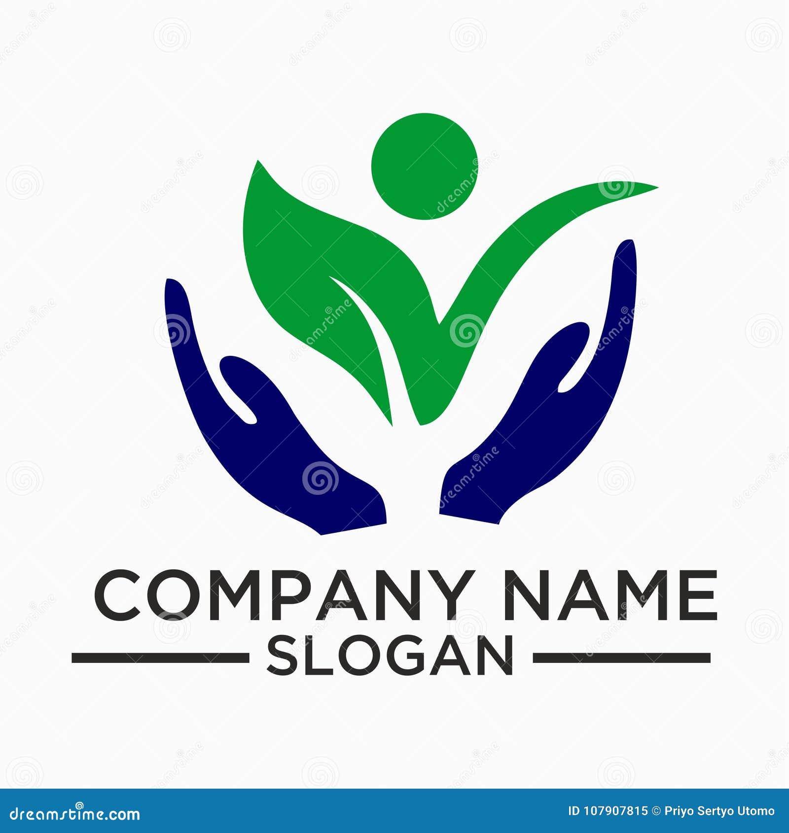 La feuille, usine, logo, écologie, les gens, bien-être, vert, feuilles, ensemble d icône de symbole de nature de vecteur conçoit