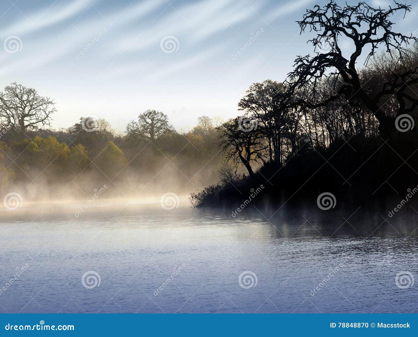 La fierté du matin sur le lac Dongjiang