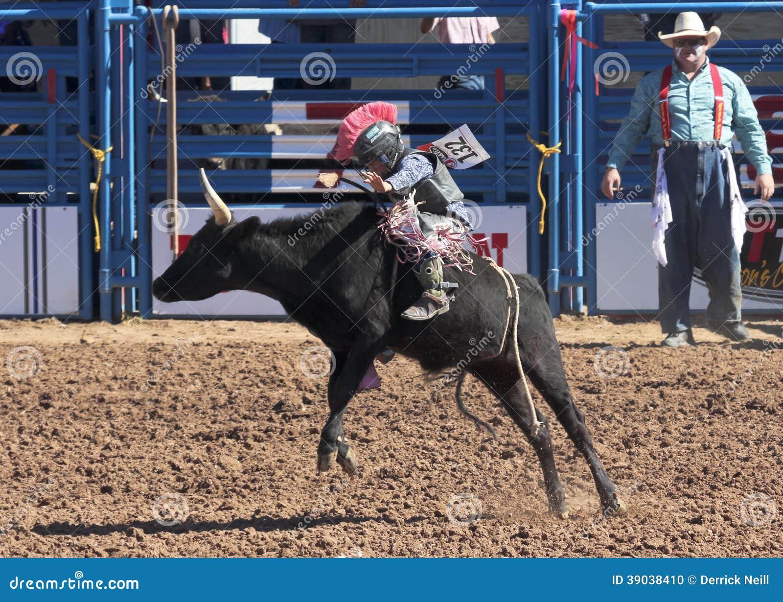 A La Fiesta De Los Vaqueros Junior Rodeo Editorial Image
