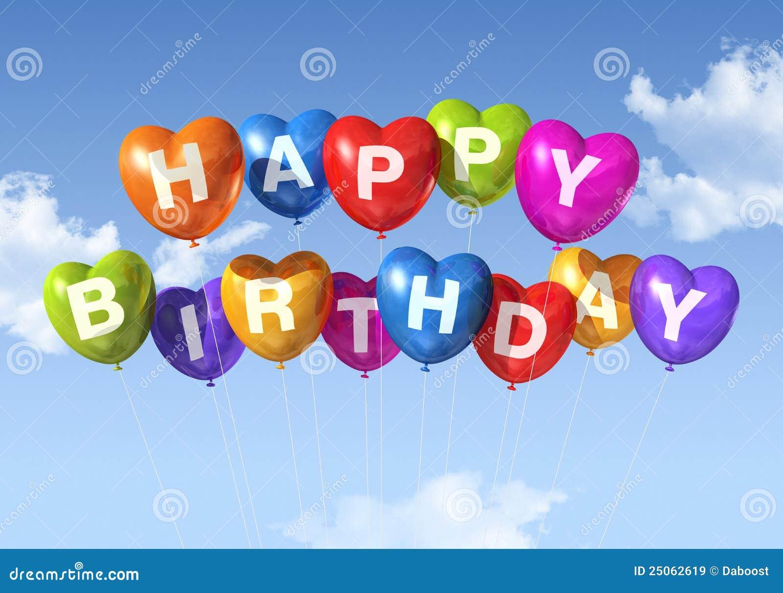 Amato La Figura Del Cuore Di Buon Compleanno Balloons Nel Cielo  AF96