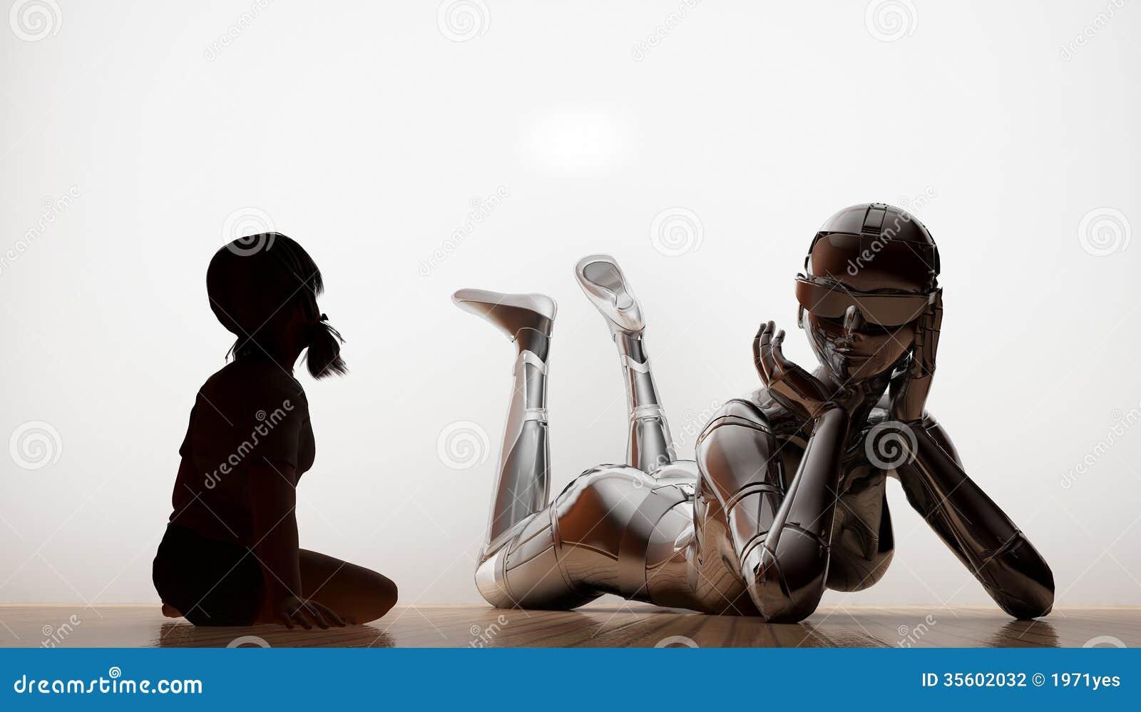 La fille et le robot