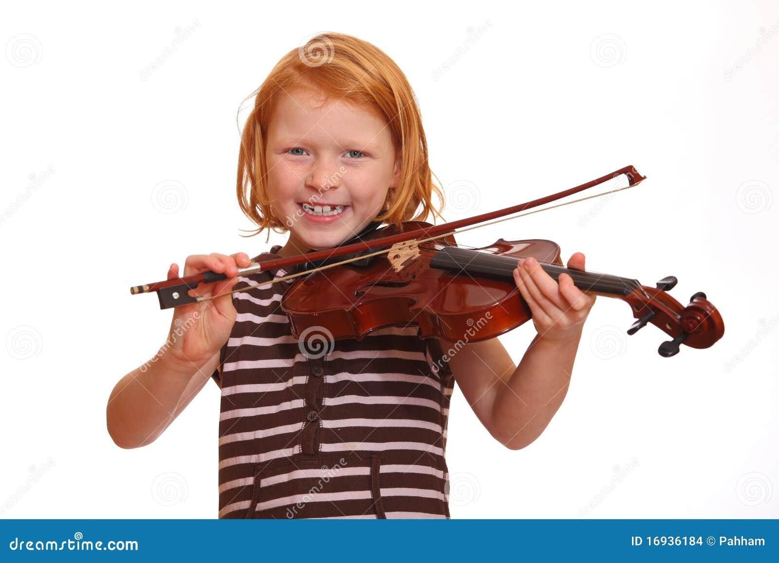 la fille joue le violon photo stock image du gosse sourire 16936184. Black Bedroom Furniture Sets. Home Design Ideas