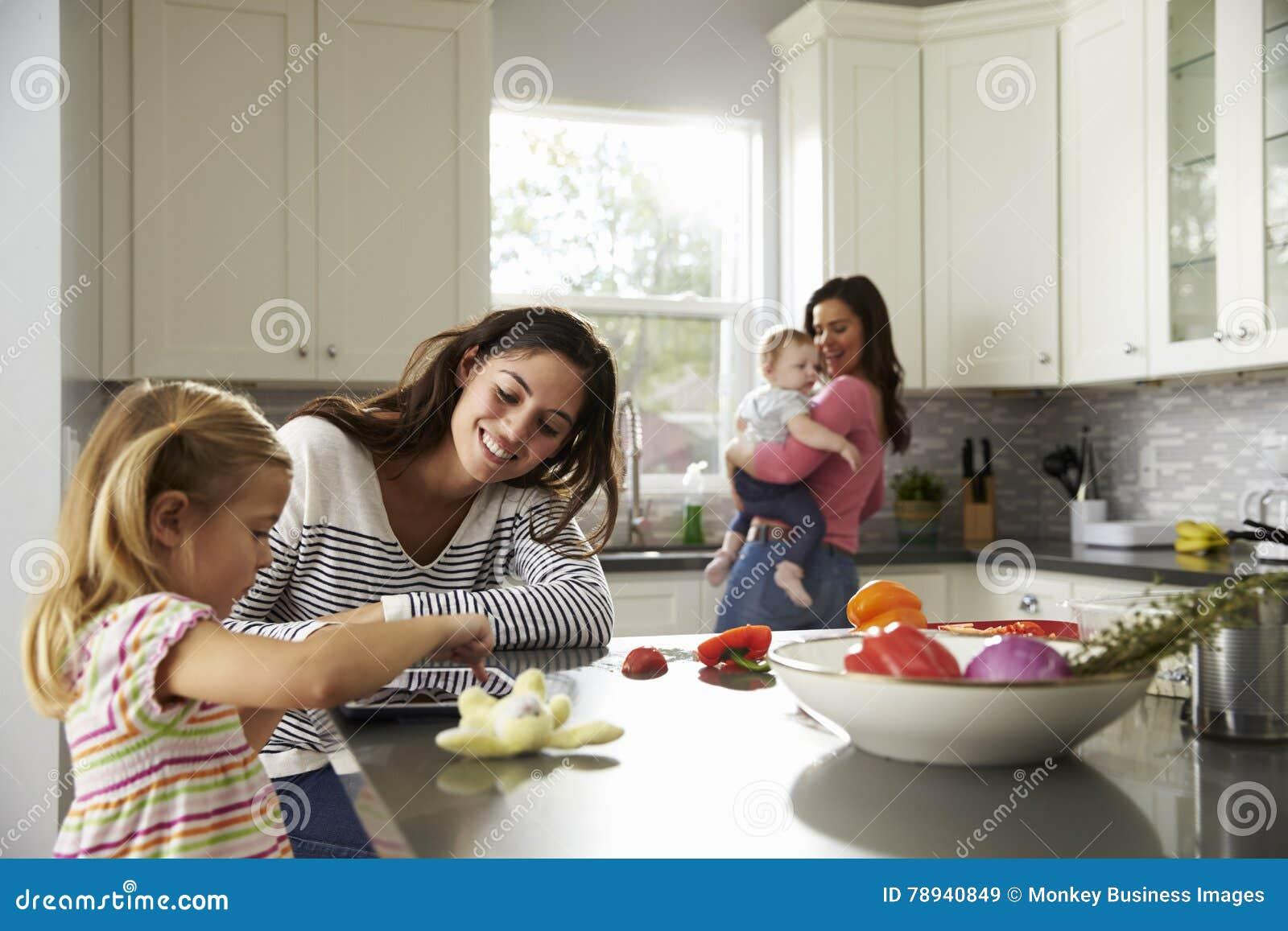 Mamans et filles lesbiennes